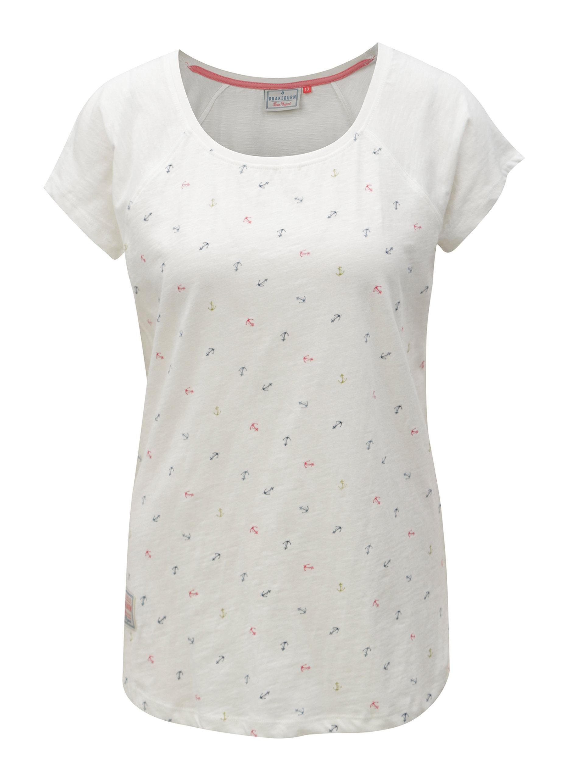 Bílé tričko s motivem kotev Brakeburn ... 8304e5abfd