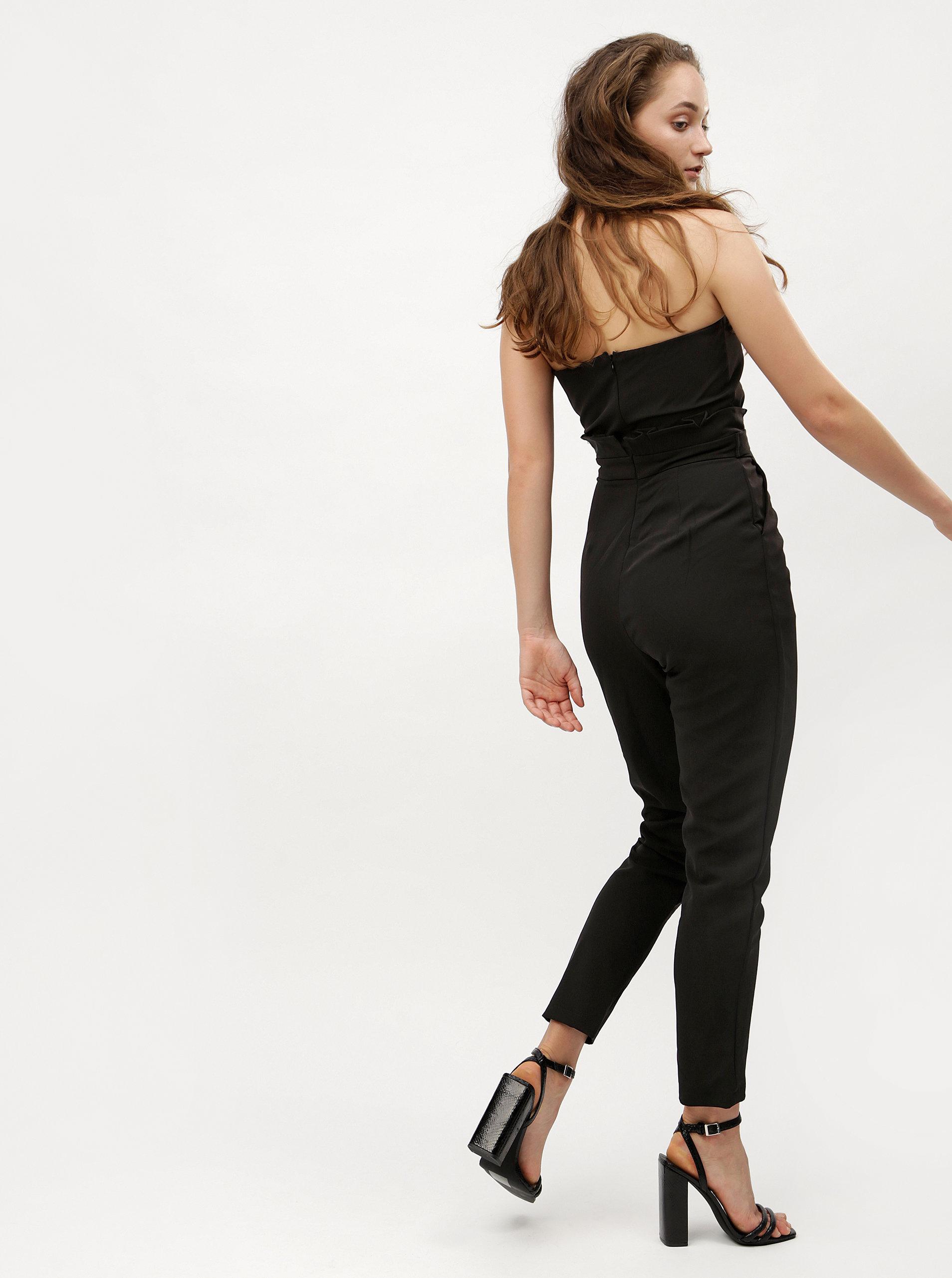 59d7102c3 Čierny overal s odhalenými ramenami MISSGUIDED | ZOOT.sk