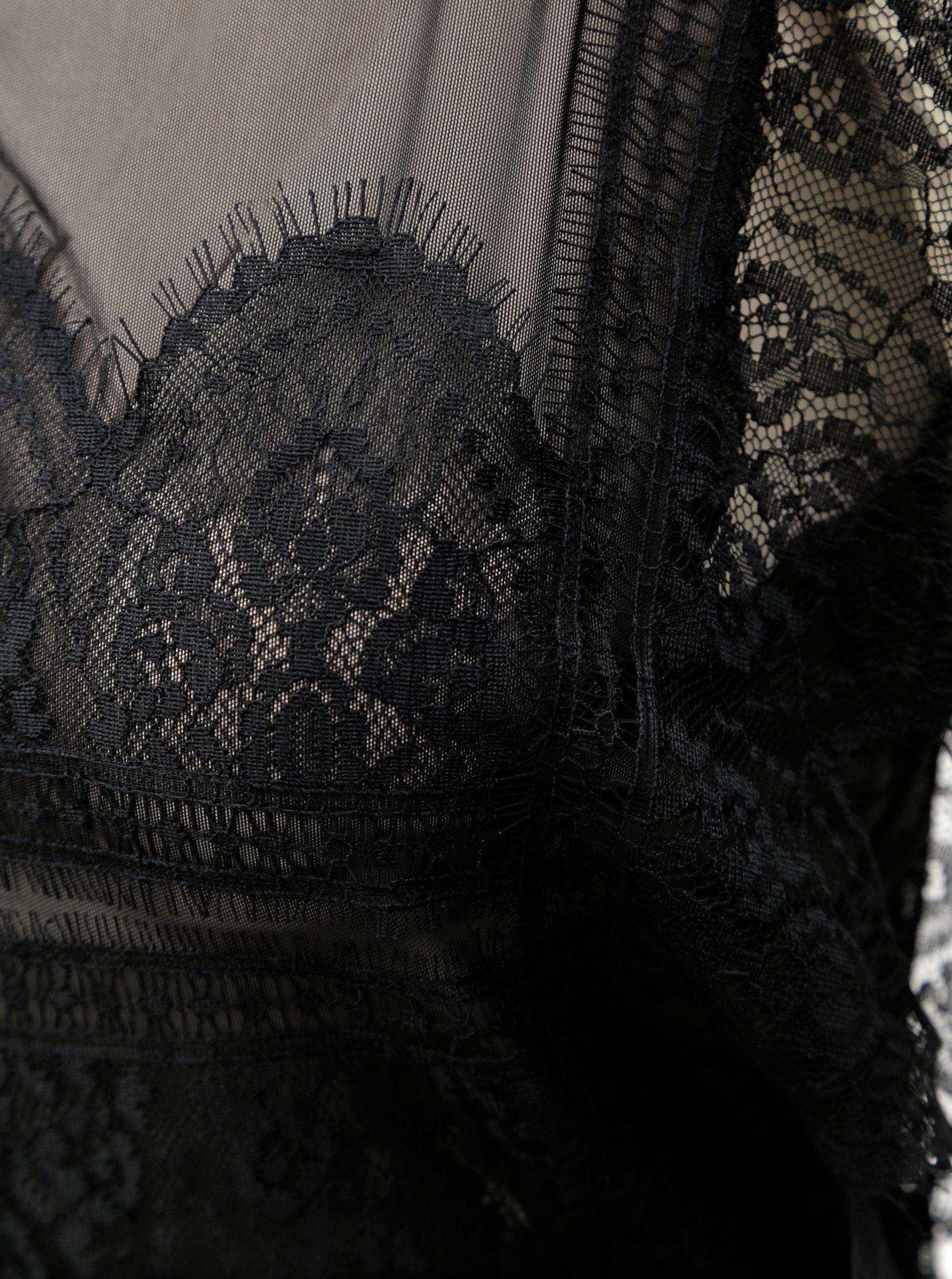 ba295369fcba Čierny čipkovaný overal ONLY Eduna ...