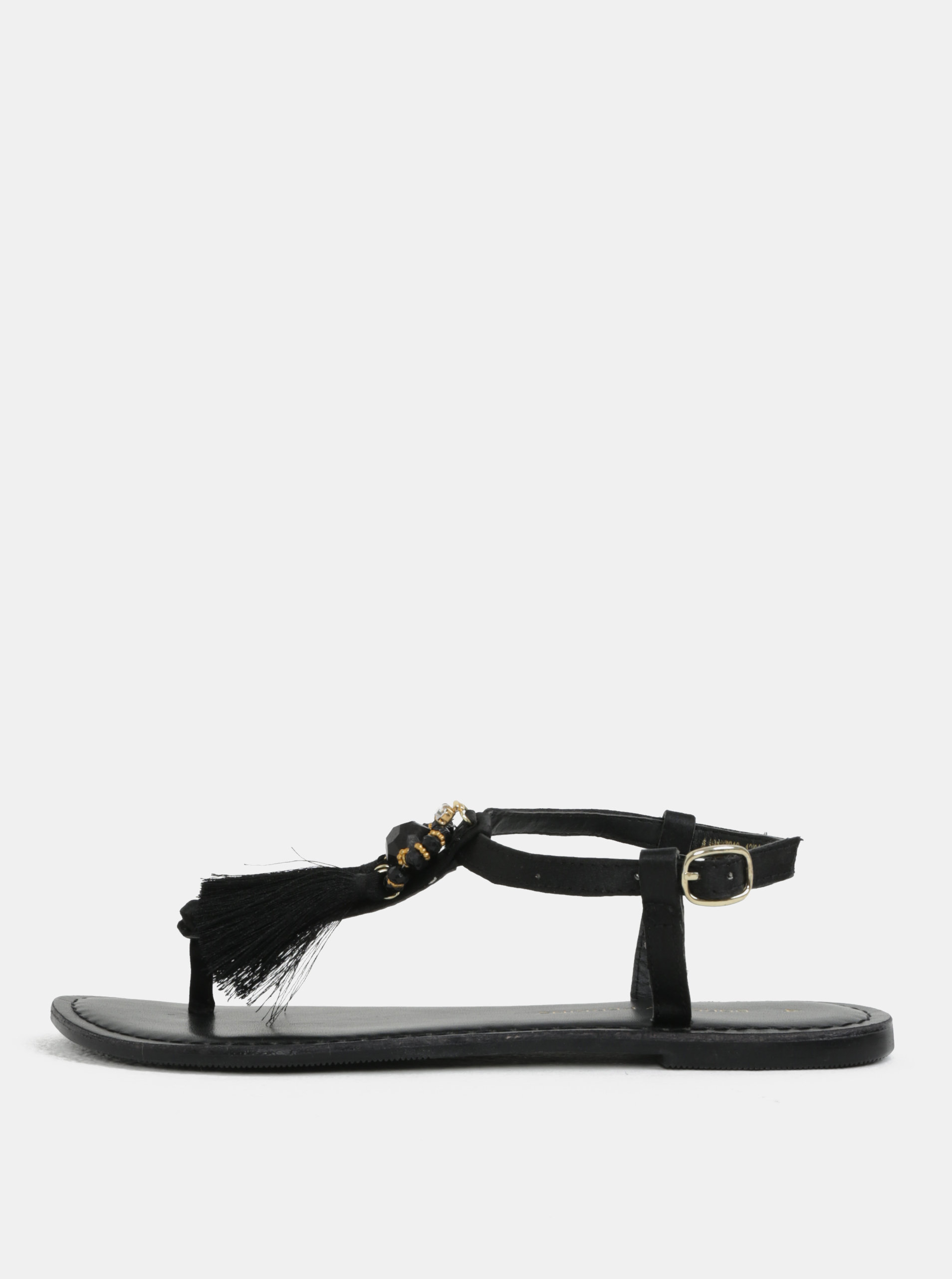 Černé sandály se střapci Dorothy Perkins