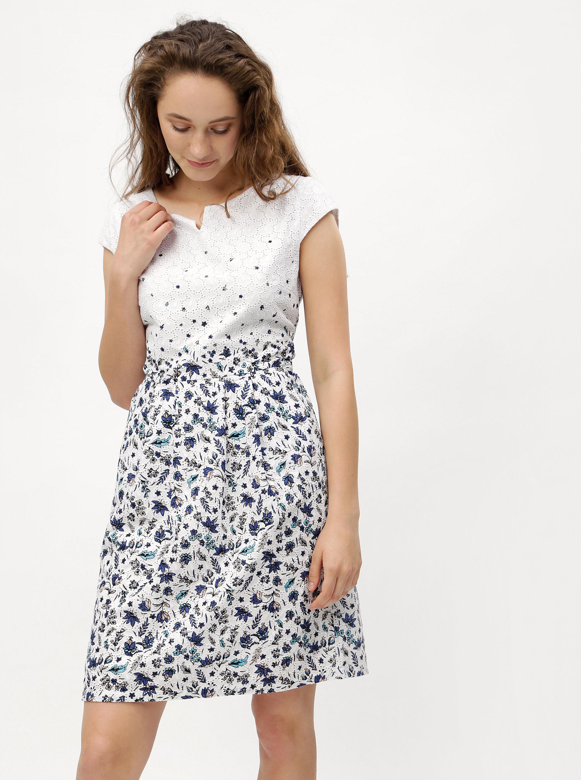 Modro-bílé květované šaty s.Oliver  63eac9826e