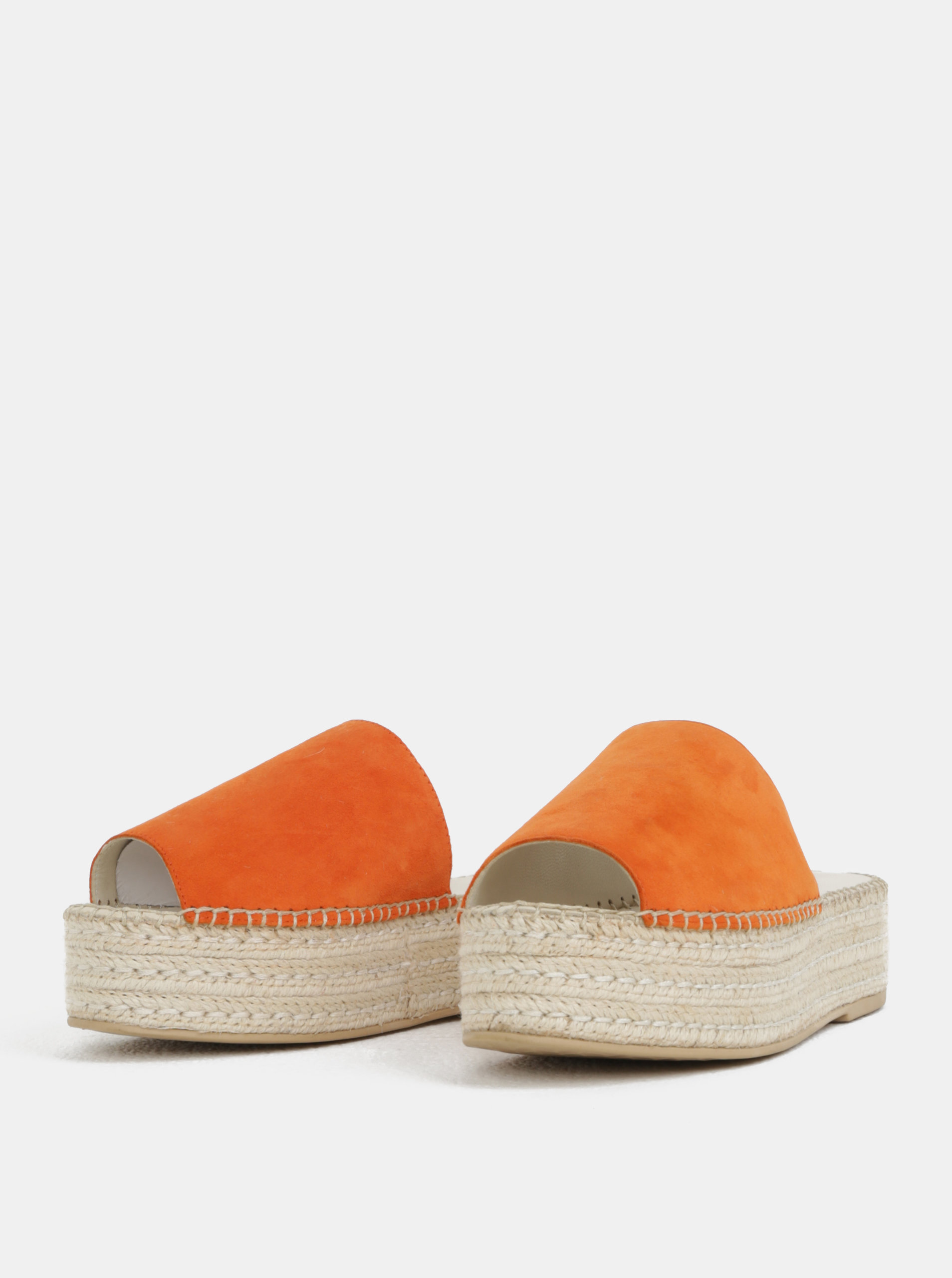 637f73f3880d Oranžové dámske semišové šľapky na platforme Vagabond Celeste ...