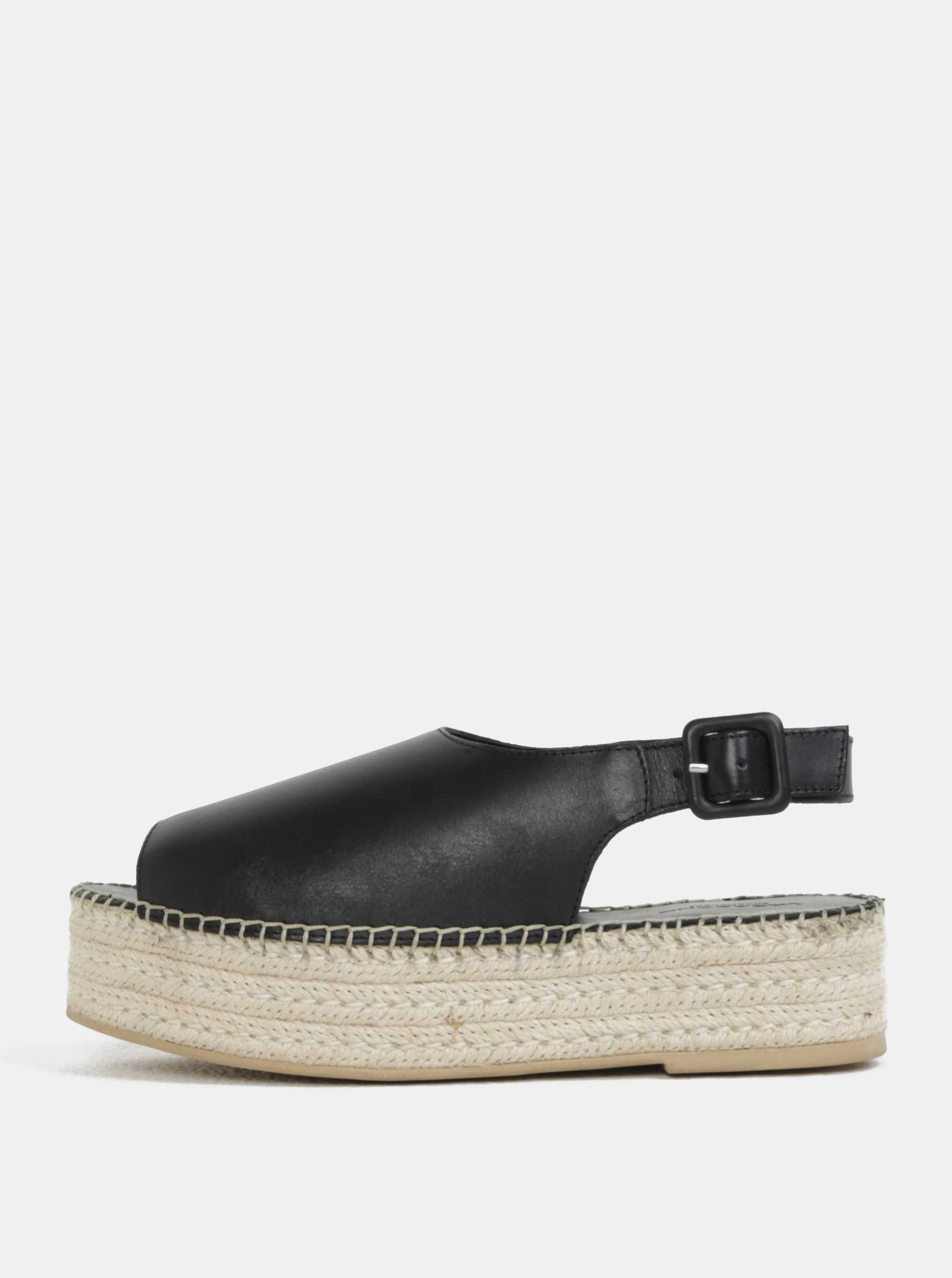 8827b7ceba3b Čierne dámske kožené sandále na platforme Vagabond Celeste ...