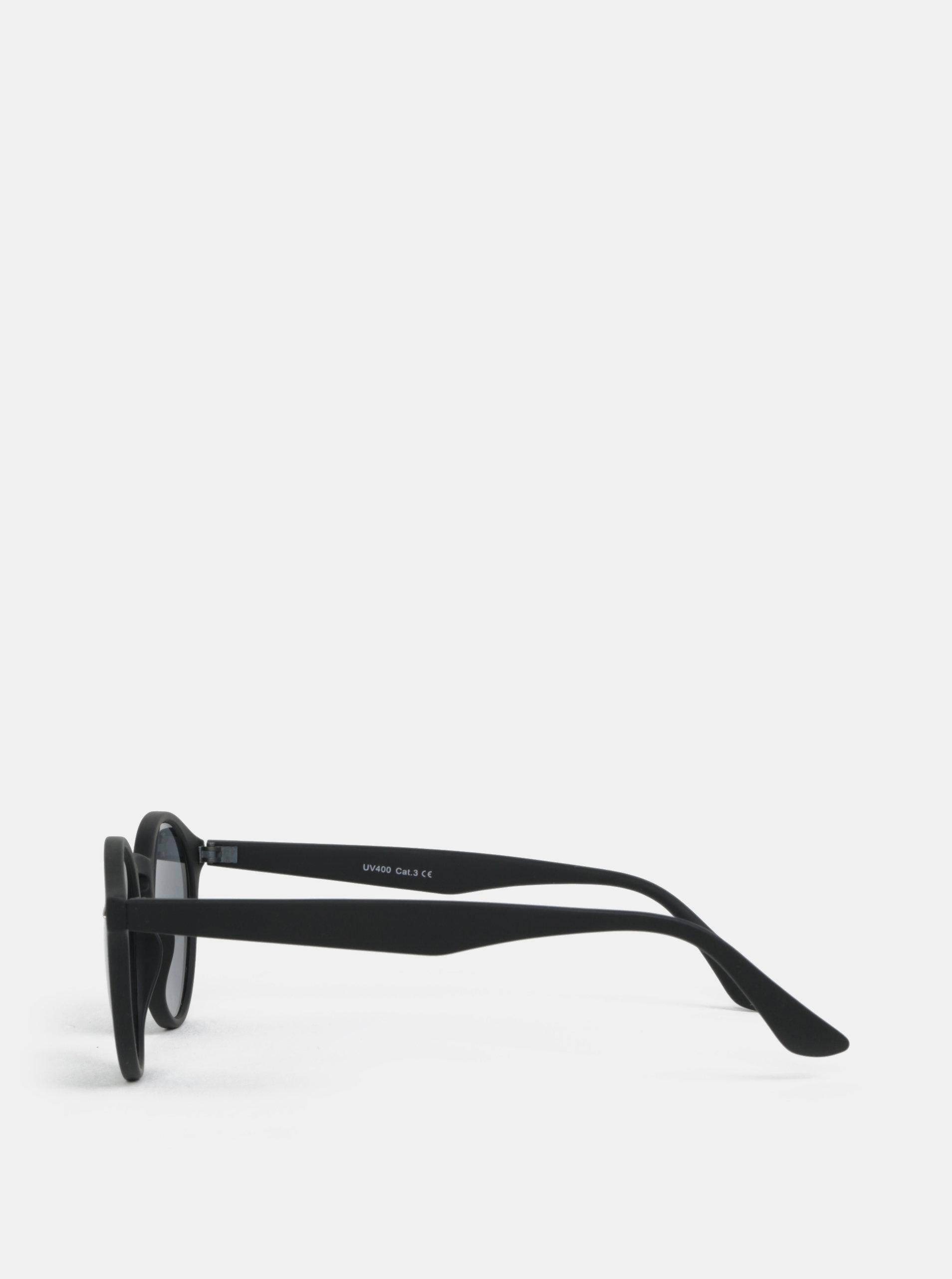 Čierne okrúhle slnečné okuliare s detailmi ONLY   SONS Display ... 2cea3f52e79