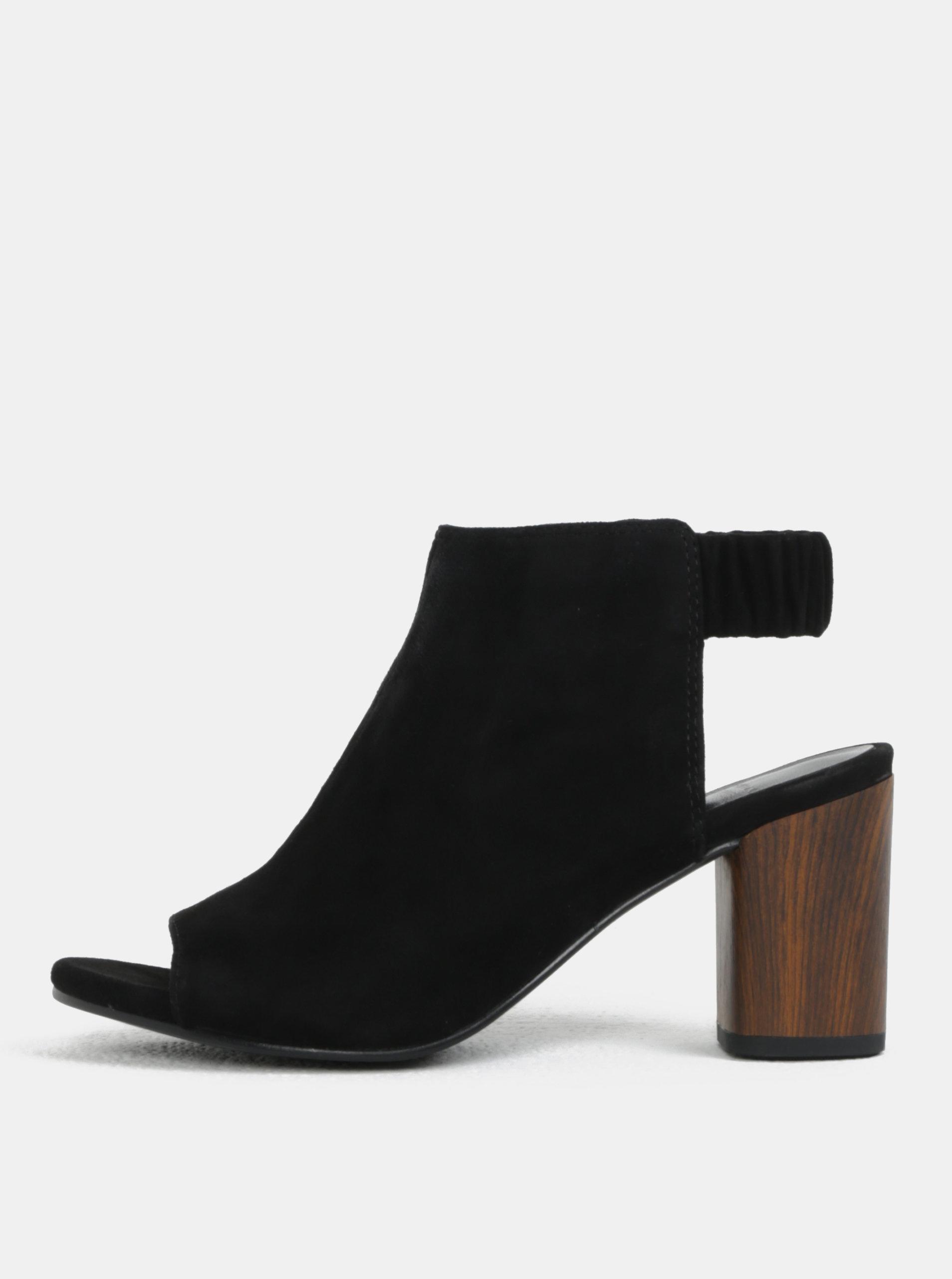 4b4266d07ce3 Čierne dámske semišové sandále na podpätku Vagabond Carol ...