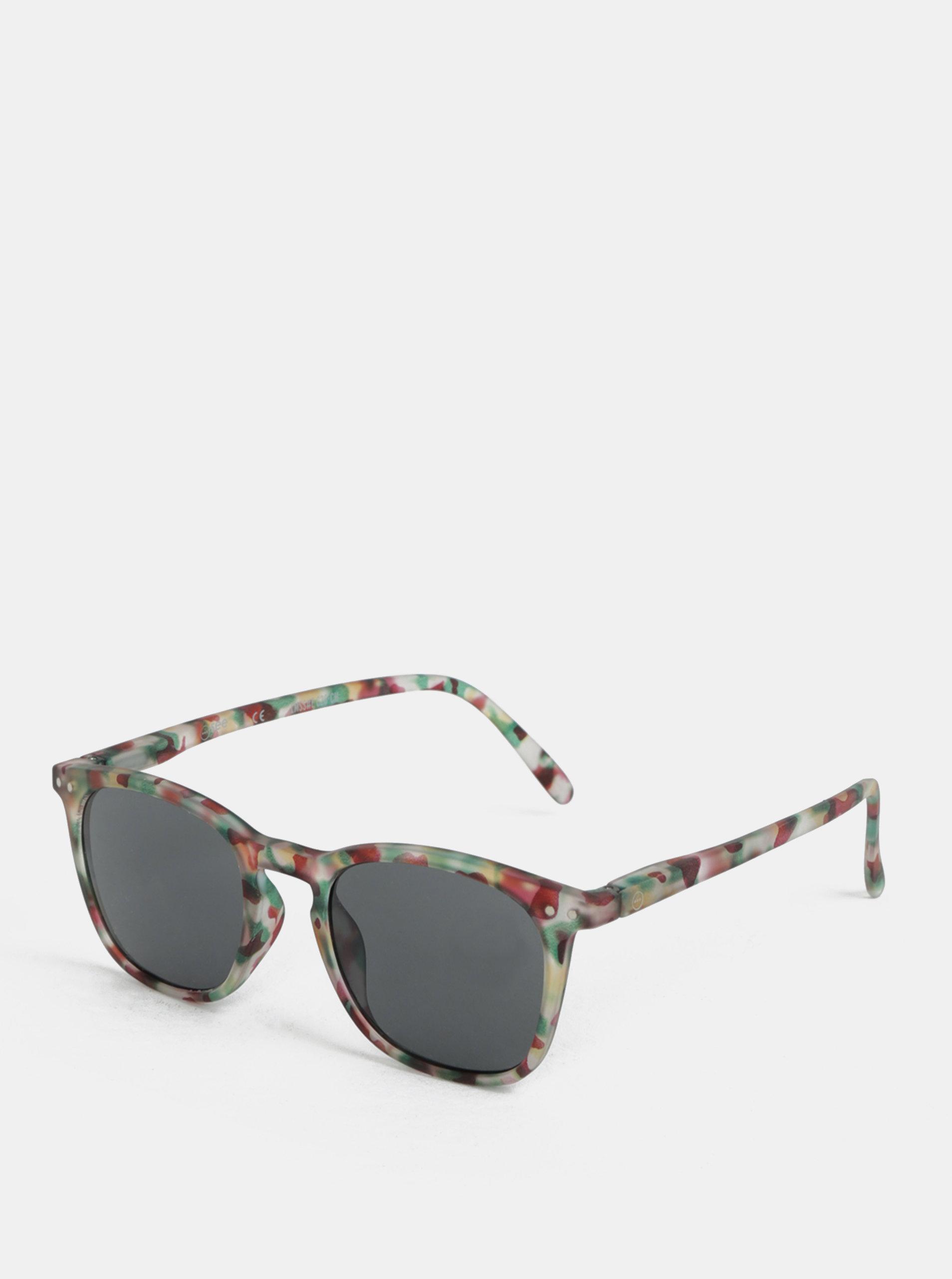 Zelené vzorované sluneční brýle IZIPIZI #E