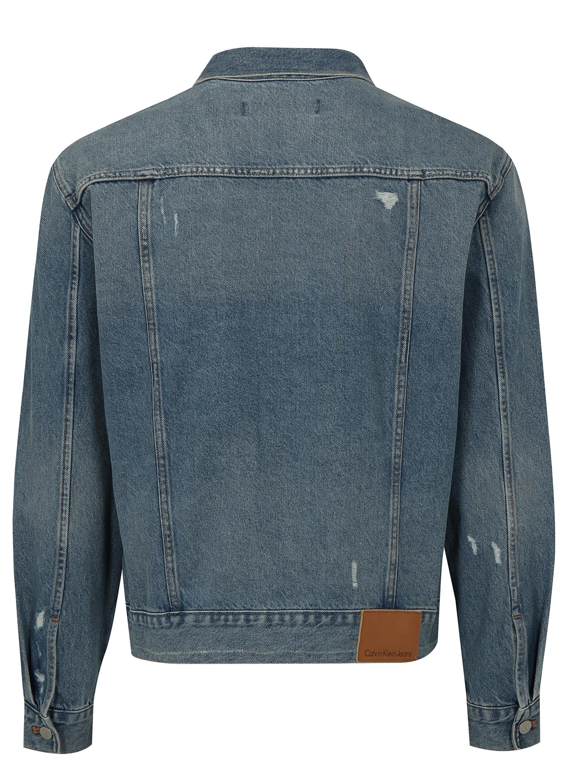 Modrá pánska rifľová bunda Calvin Klein Jeans ... ee9b182068f