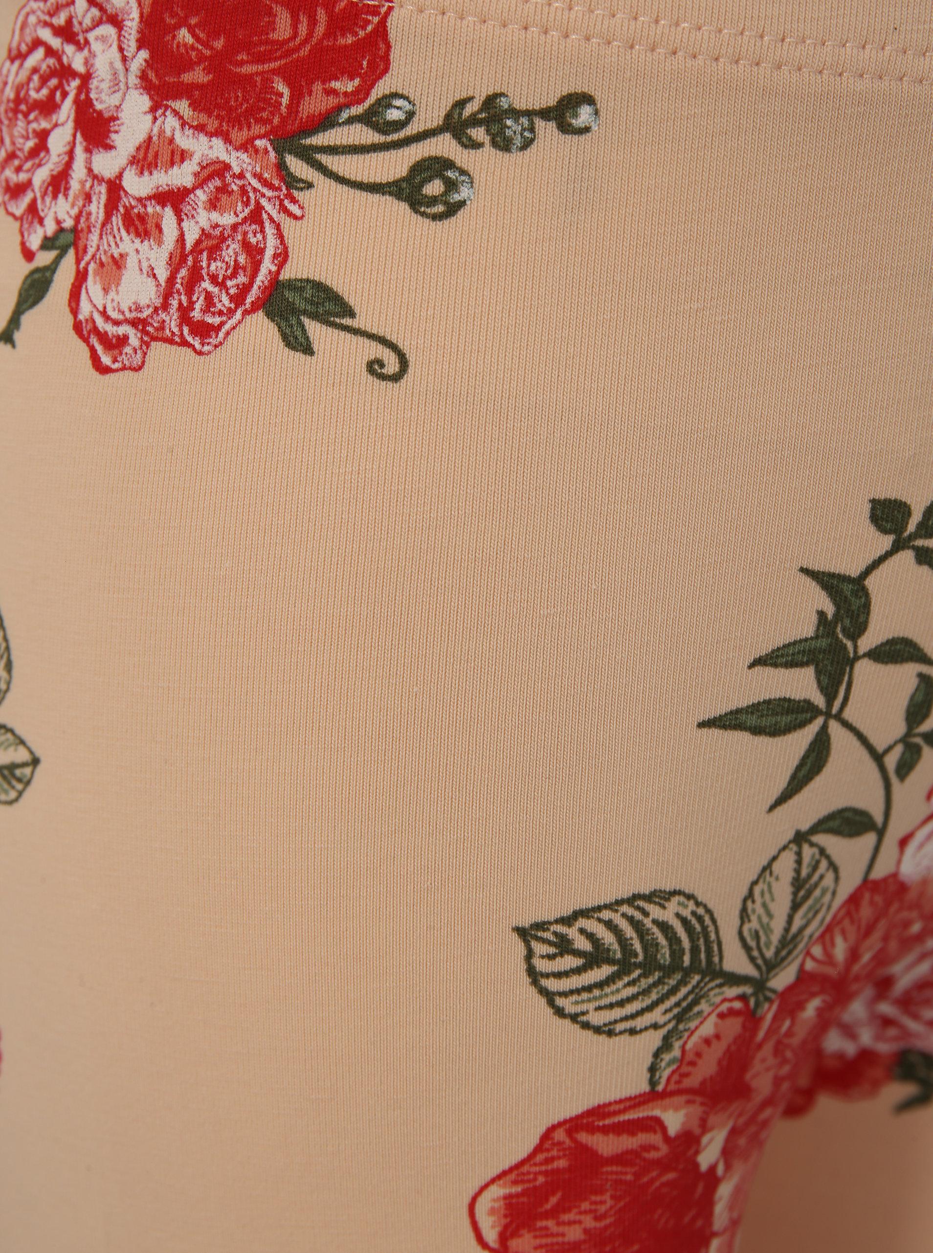 bff423ebad7 Meruňkové holčičí květované legíny name it Vigga ...