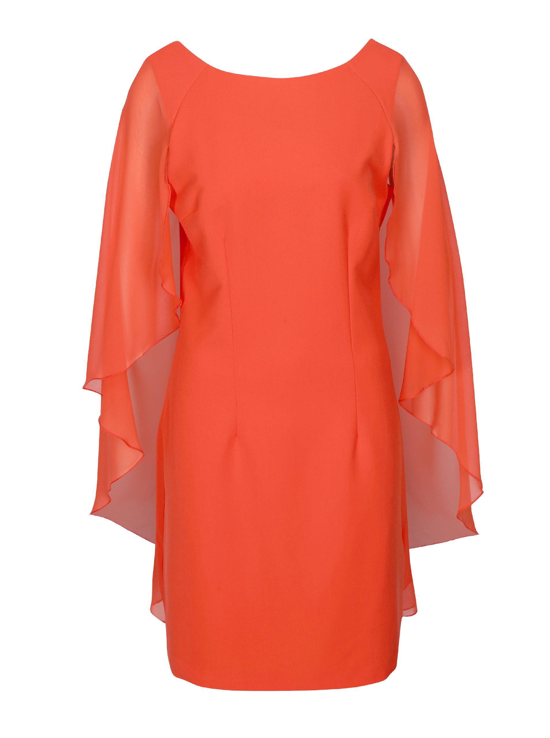 88762c62f720 Červené šaty s volánovými rukávmi VERO MODA Hannah ...