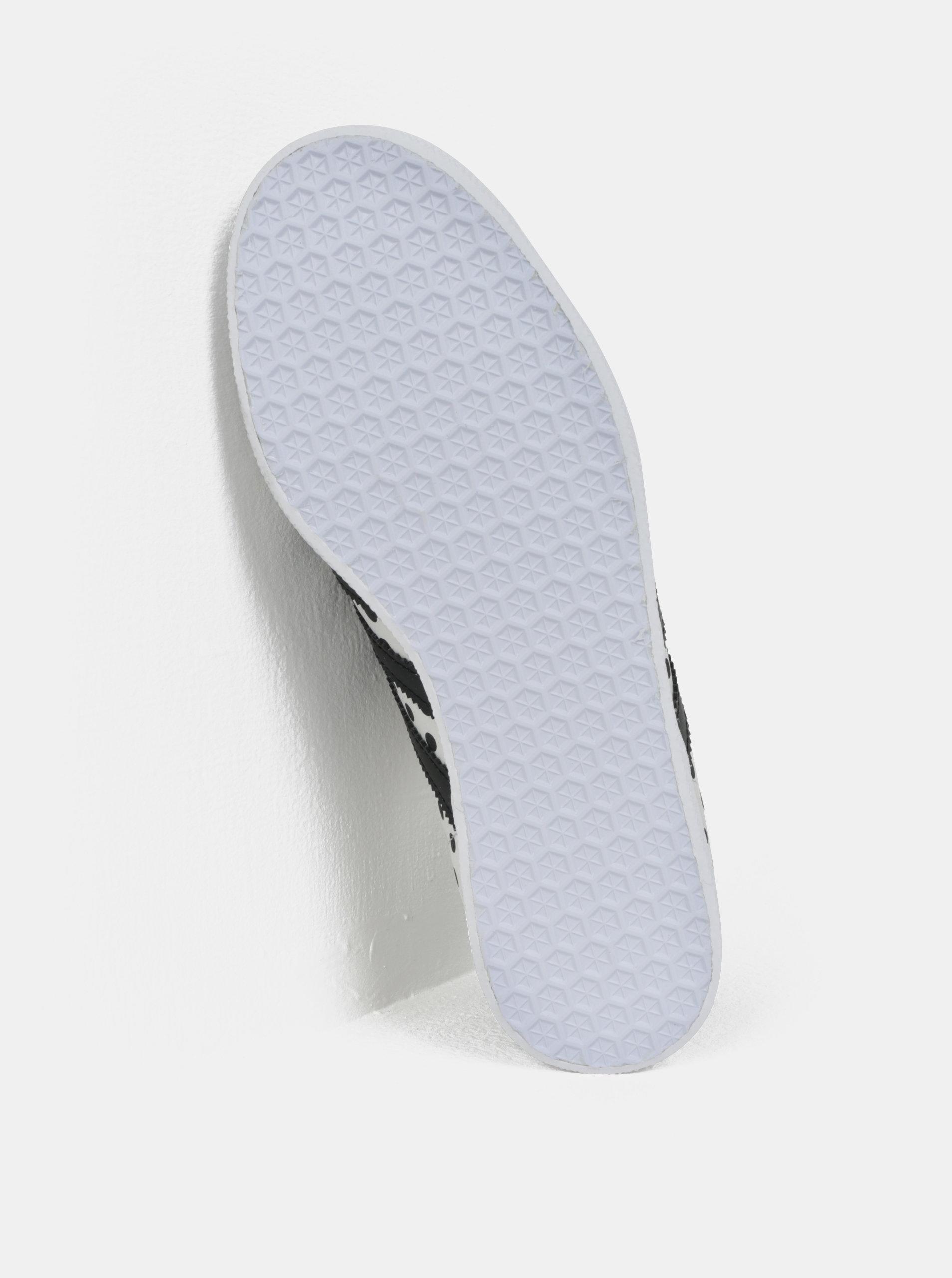 Sivé dámske bodkované kožené tenisky adidas Originals Gazelle ... 400a94f8d03