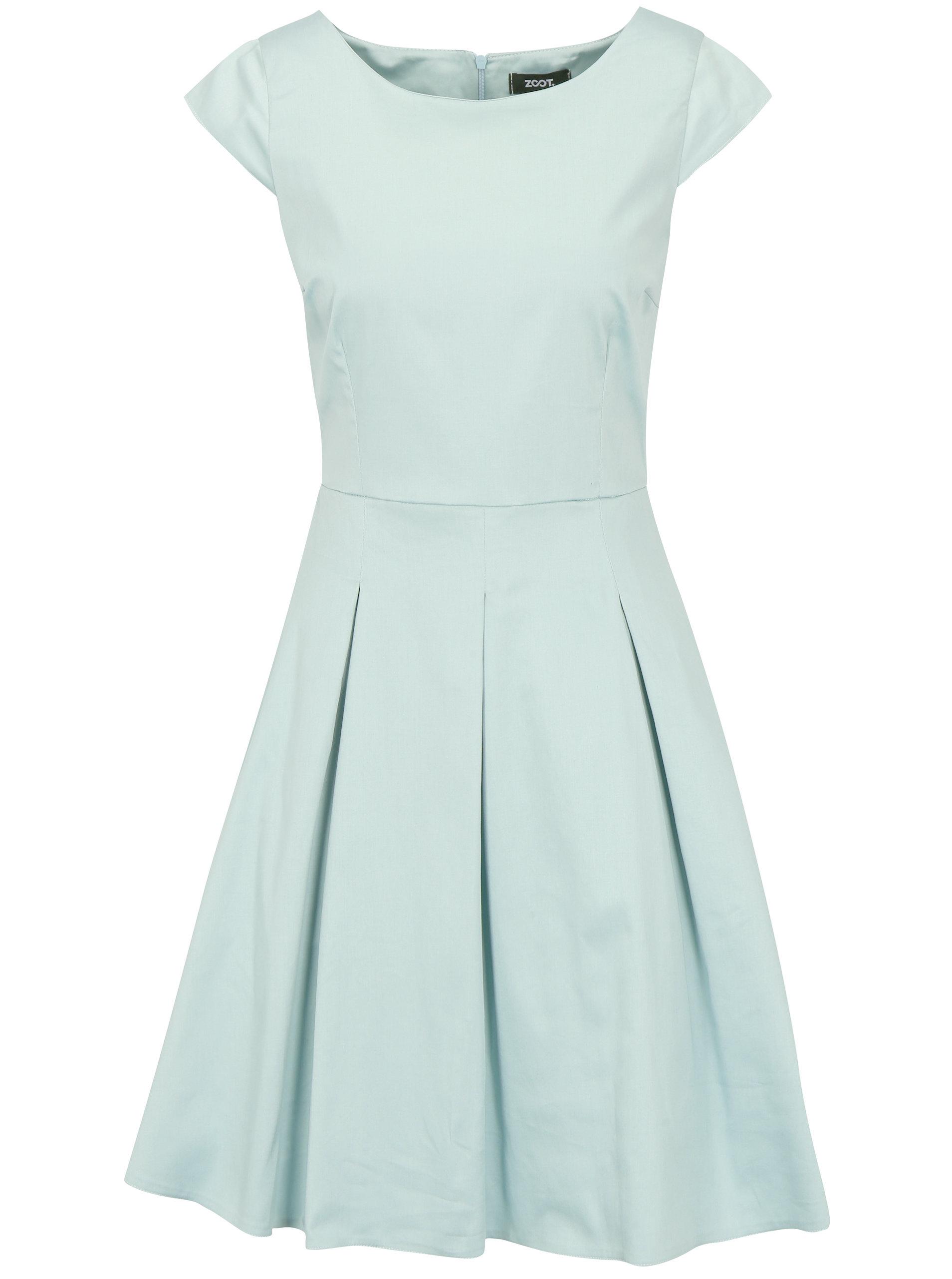 fb9ea9401f93 Mentolové šaty s áčkovou sukní ZOOT ...