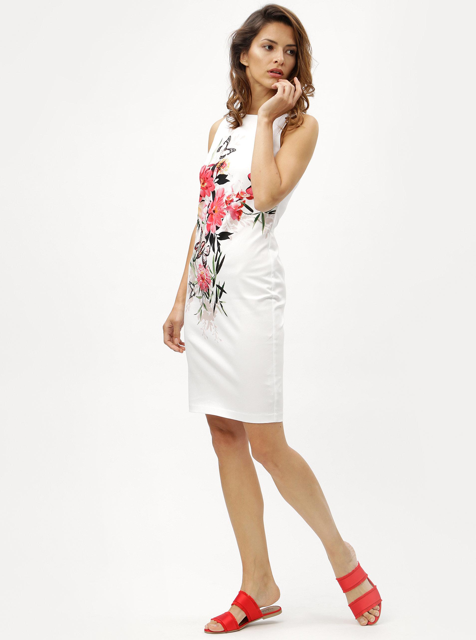 Bílé květované pouzdrové šaty M Co Oriantal ... 9cc2743c0b