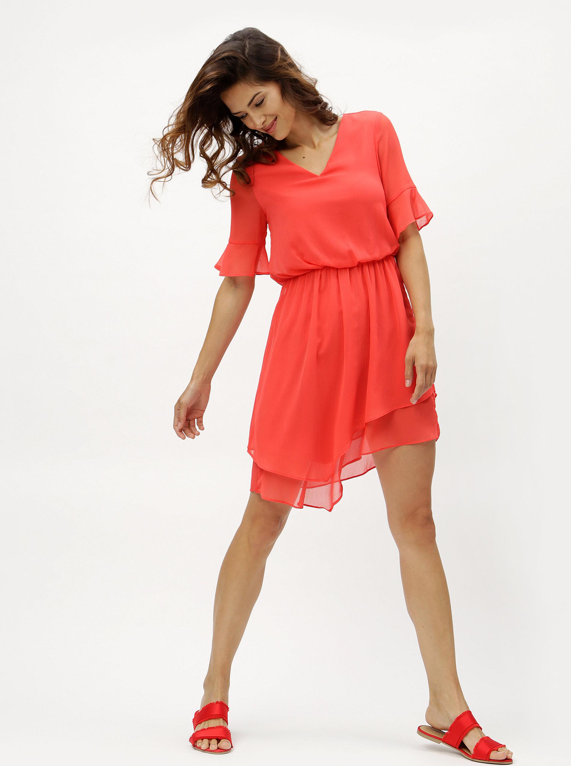 b9670f04745d Červené asymetrické šaty VERO MODA Sarah ...