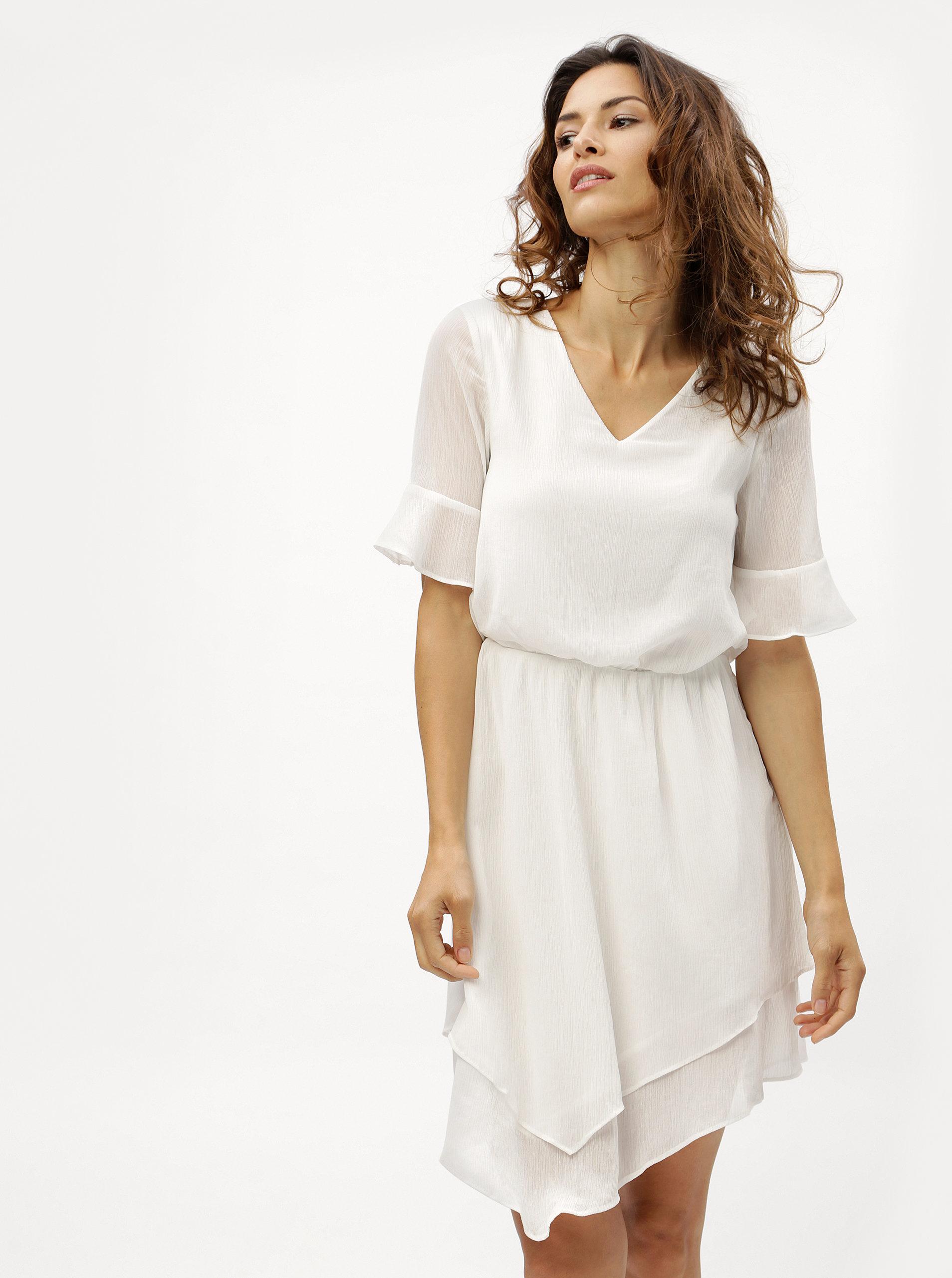 Bílé asymetrické šaty VERO MODA Sarah ... a6543bc899