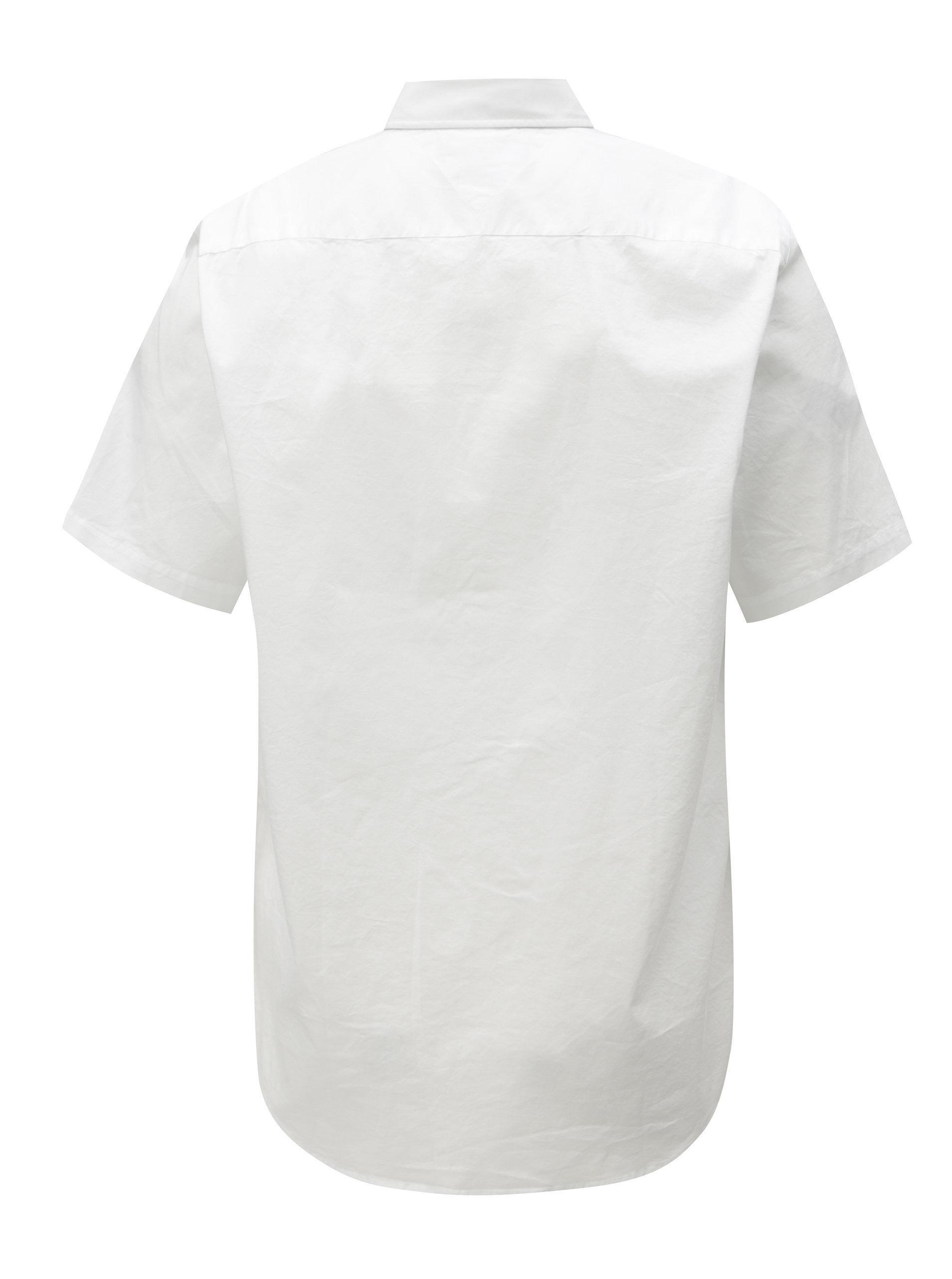 Bílá pánská košile s krátkým rukávem Tommy Hilfiger ... 1e6d71327c