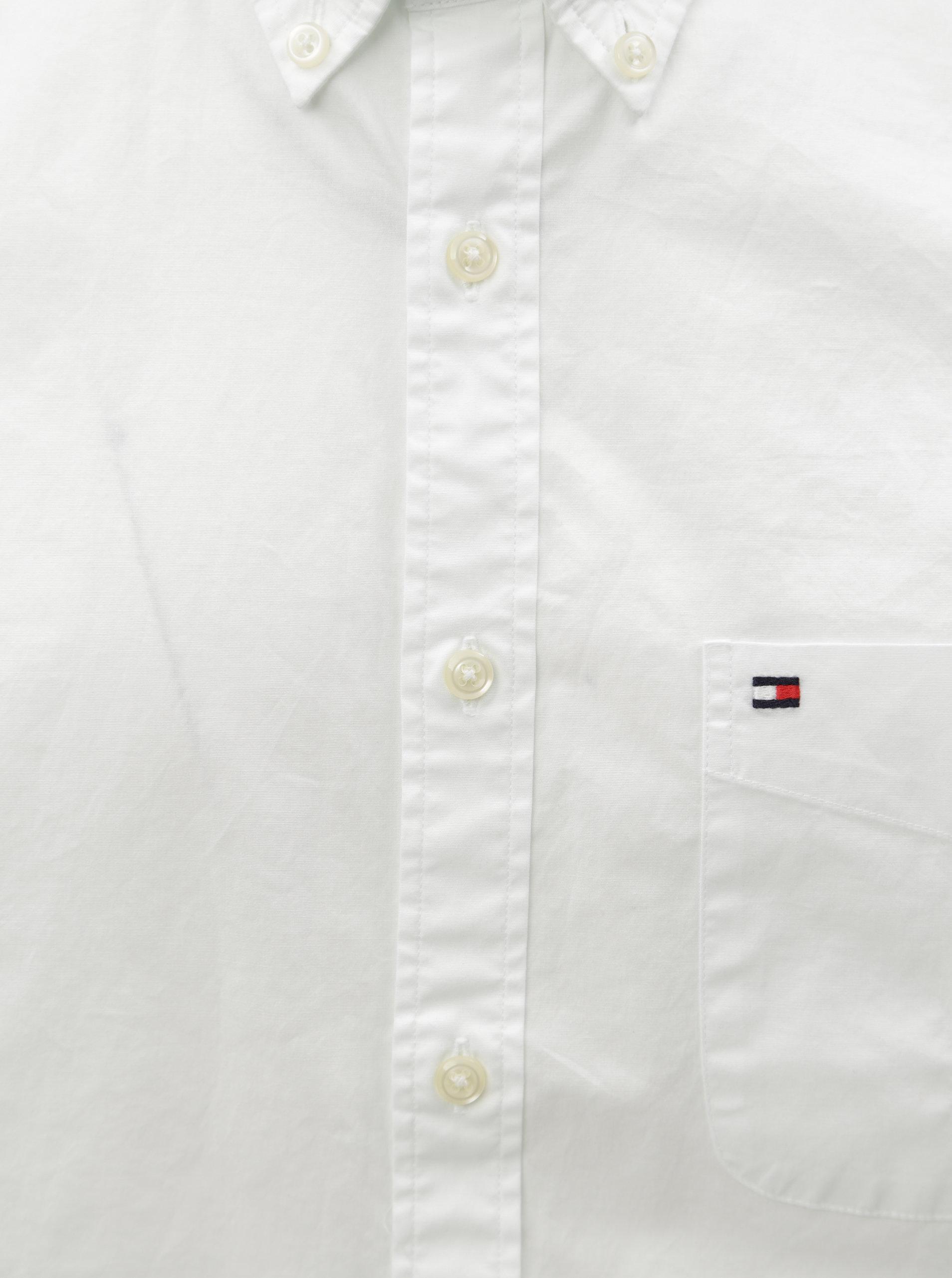 Biela pánska košeľa s krátkym rukávom Tommy Hilfiger ... eb532851222