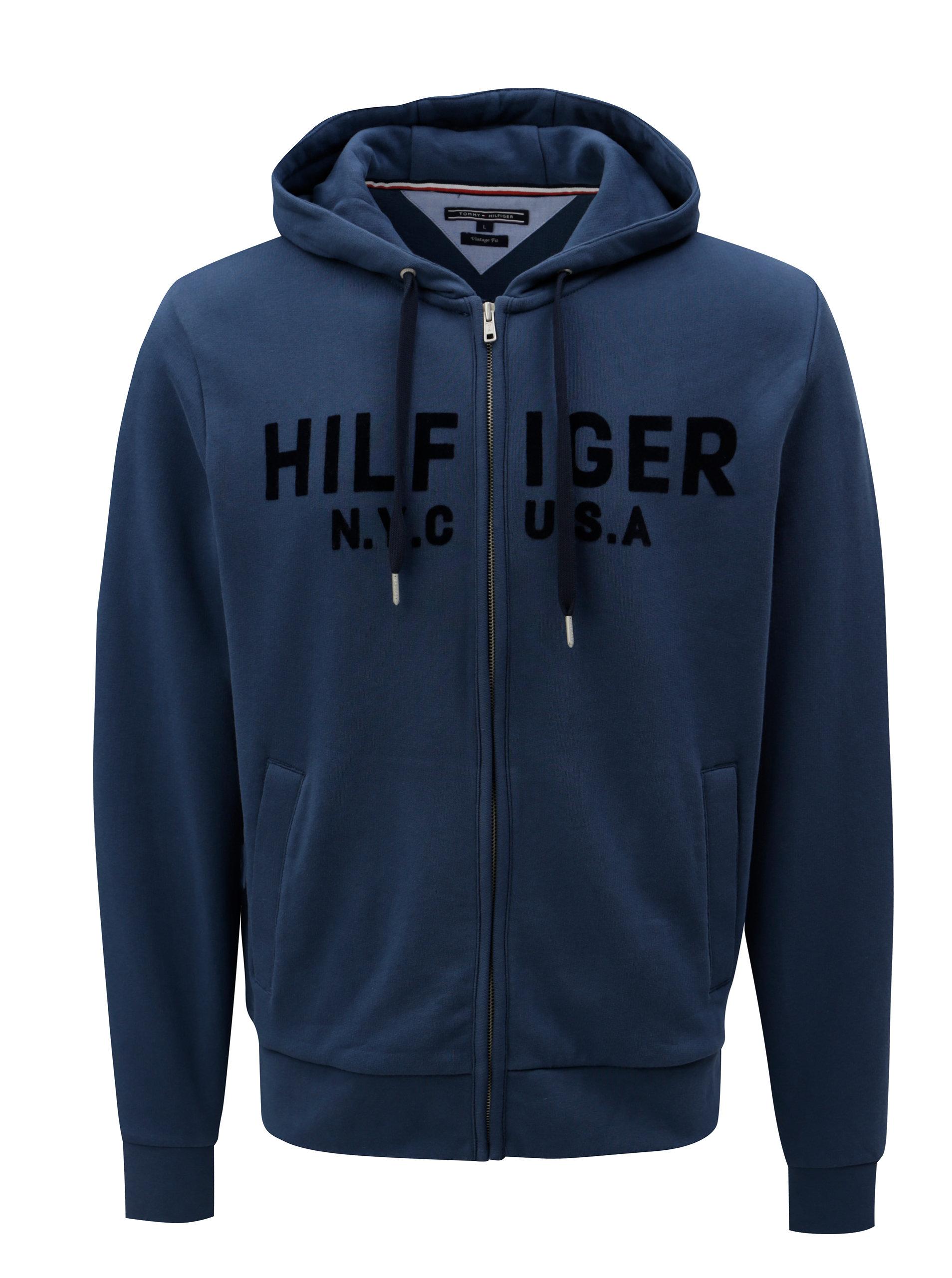 Tmavě modrá pánská mikina Tommy Hilfiger ... 2aed5128db
