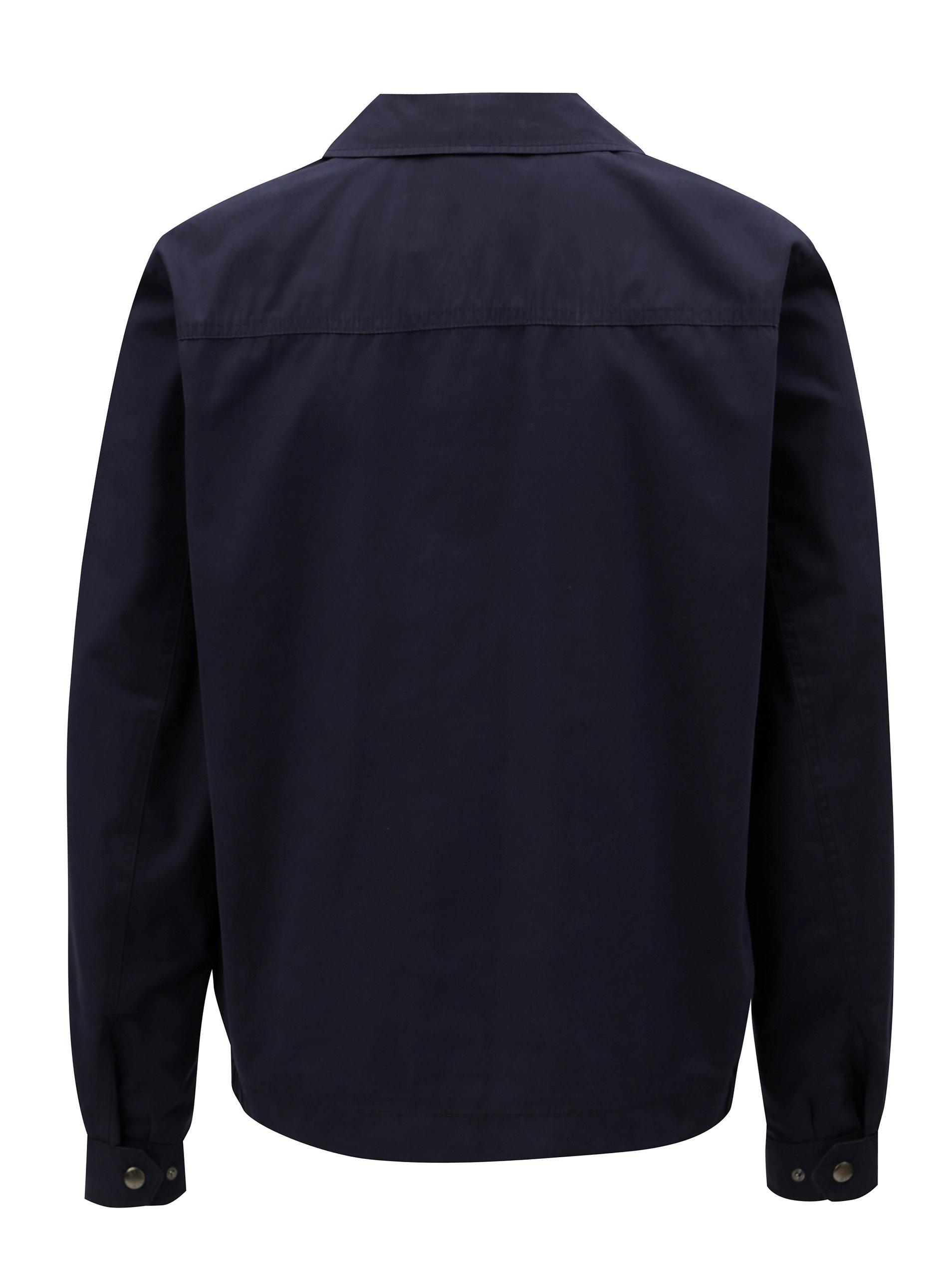 Tmavě modrá pánská bunda Tommy Hilfiger ... 0ab6e0adf32