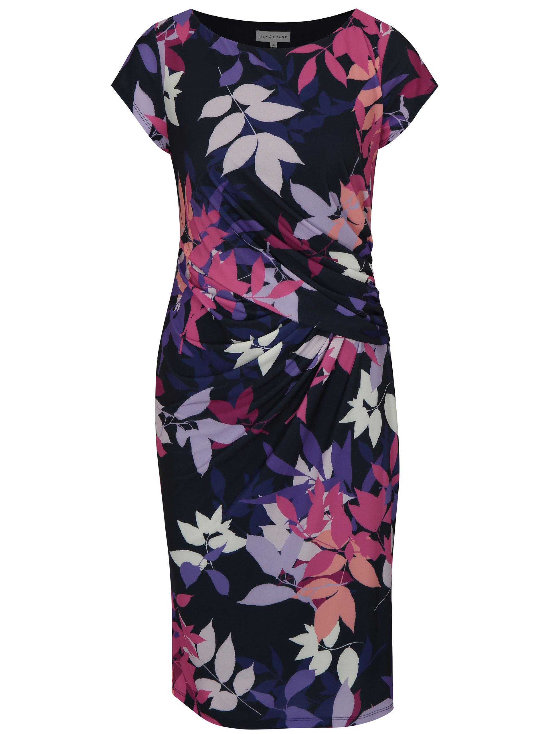 ce2c62987ed0 Ružovo–modré vzorované šaty Dorothy Perkins ...