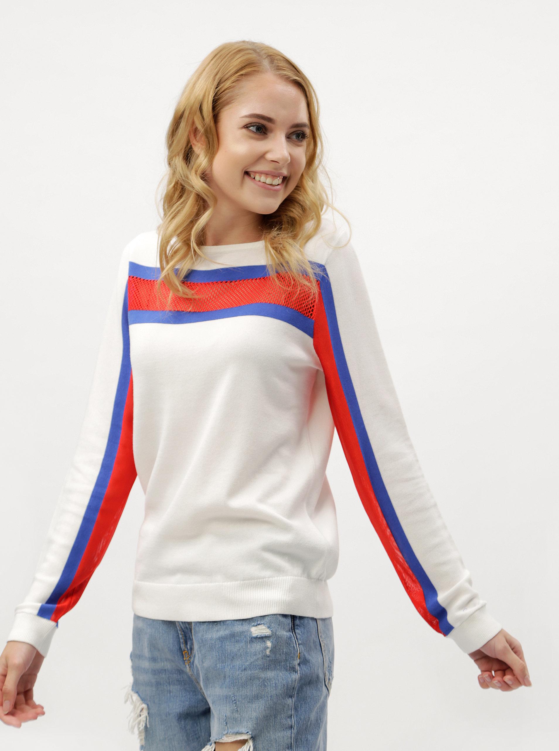 31ac0c1907 Biele dámske svetrové tričko s dlhým rukávom Tommy Hilfiger ...