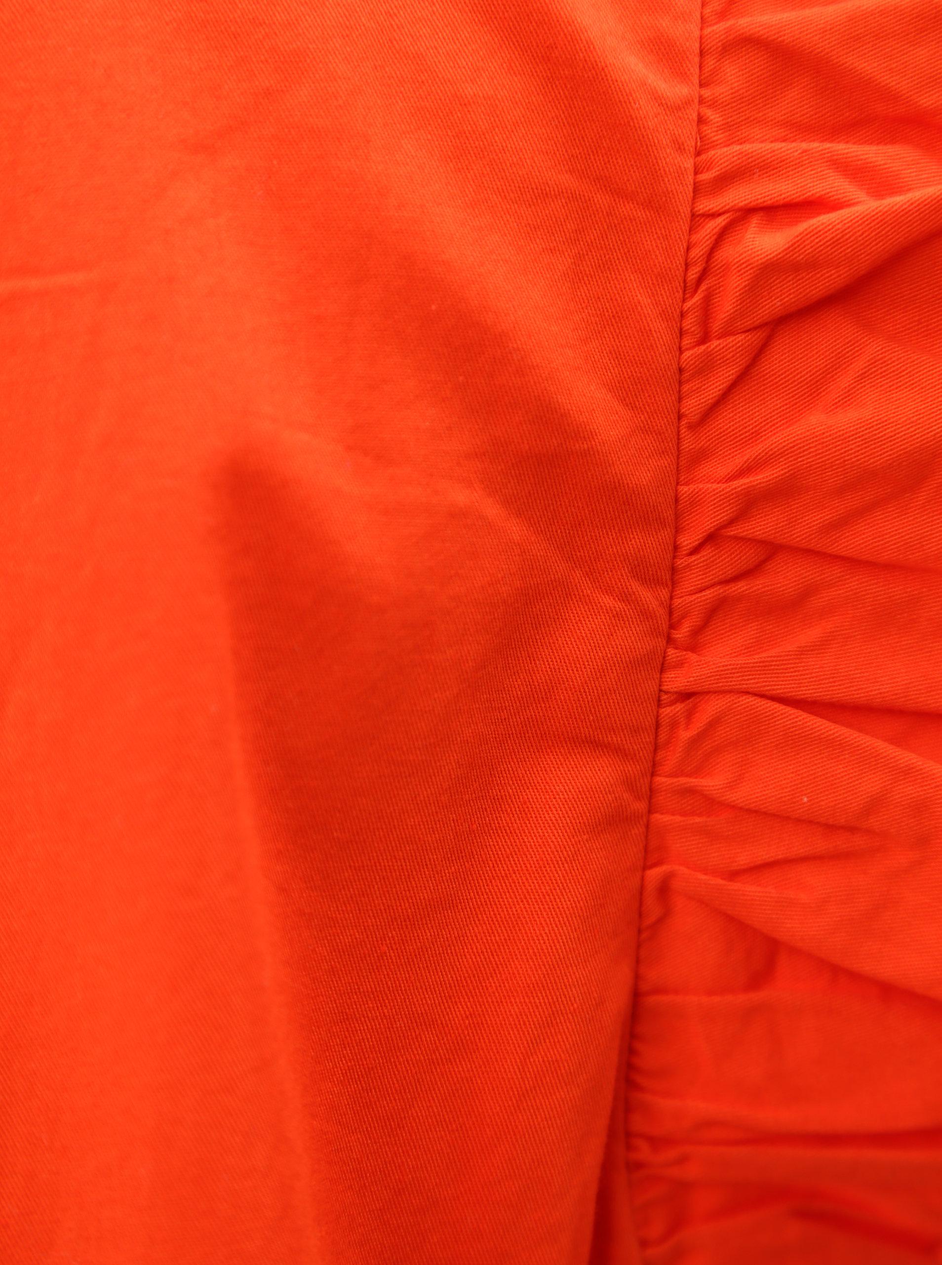 1df148ba2edf Červené šaty s volánovými rukávmi VILA Halah ...