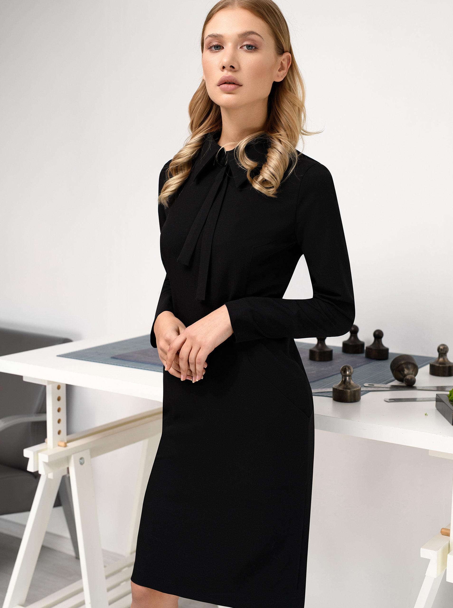Černé šaty s páskem THAÏS   STRÖE ... 4d3128290f