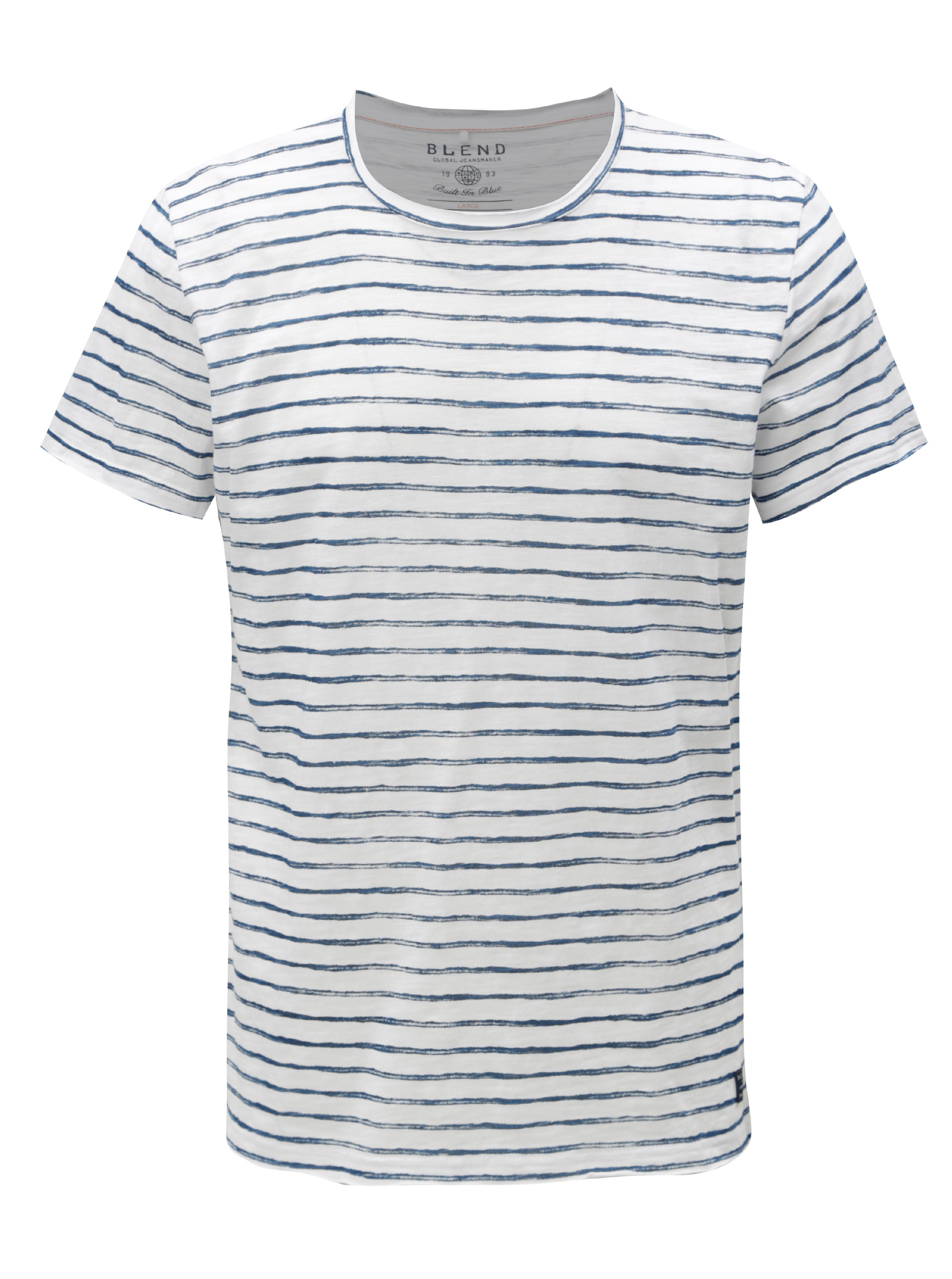 3244ff1fe48e Modro-bílé pruhované slim fit tričko Blend ...