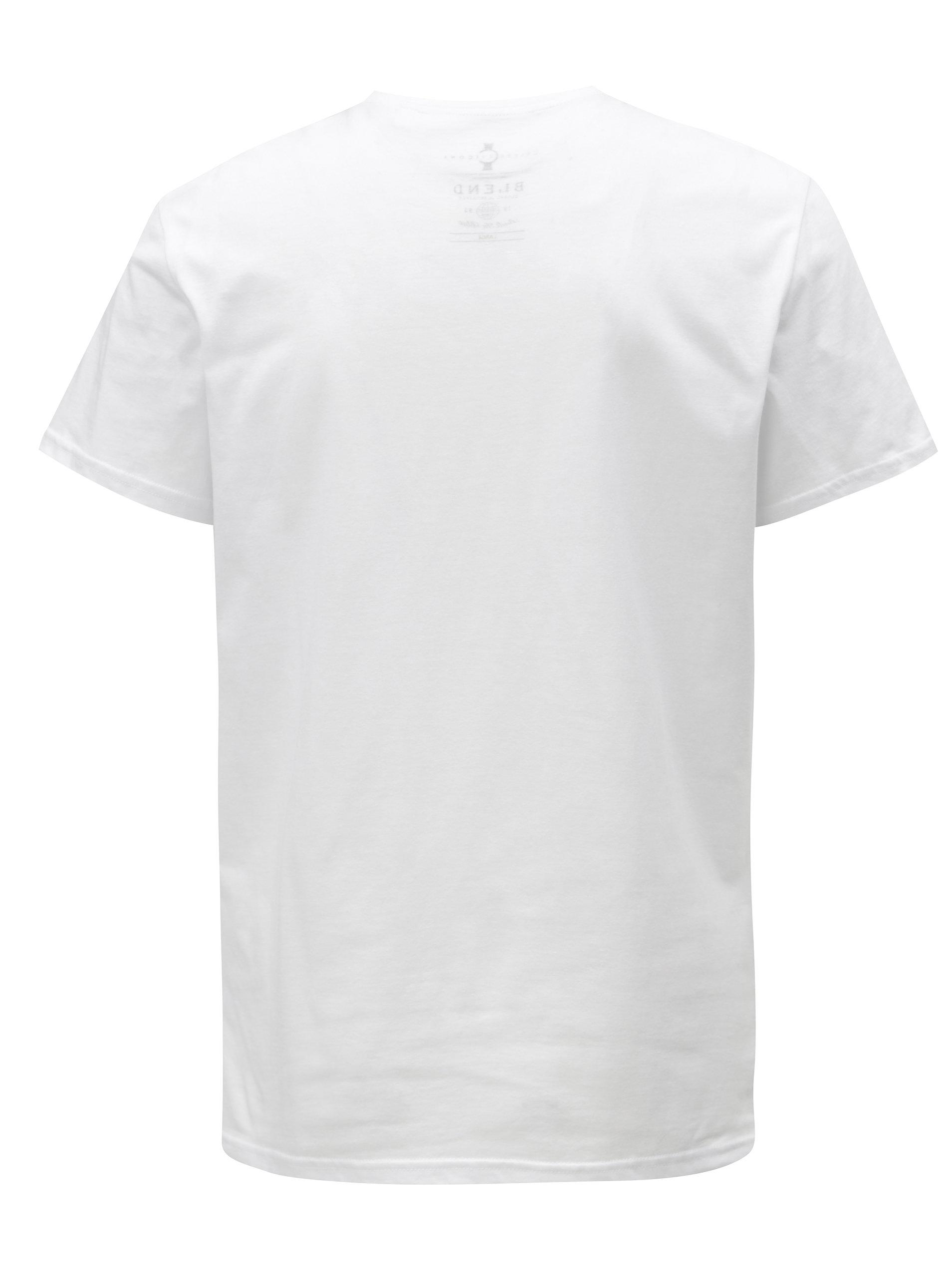 e6d8c69482c2 Bílé slim fit tričko s potiskem Blend ...