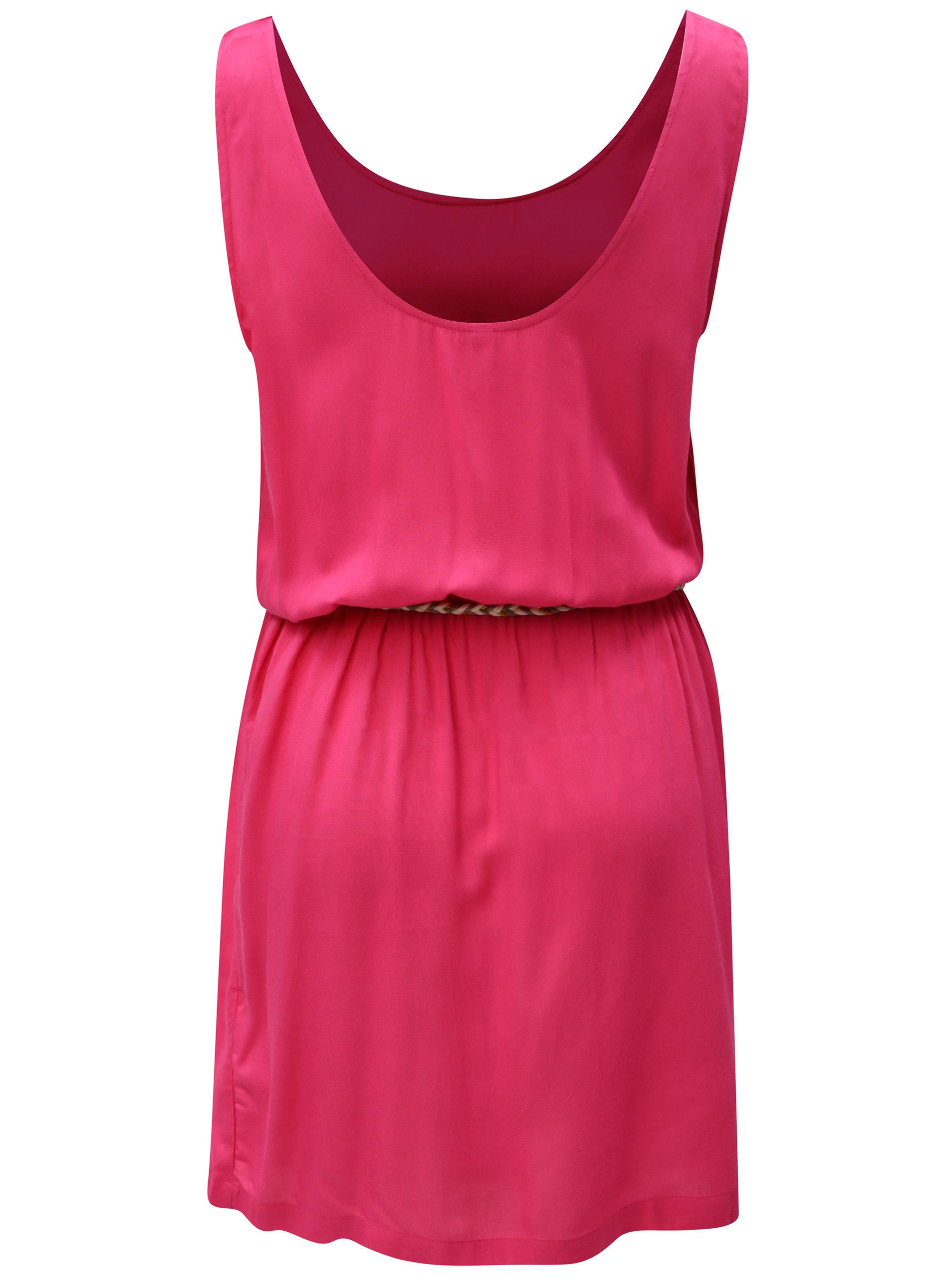 ed1b4cf33ed2 Tmavě růžové áčkové šaty Blendshe Ellen ...