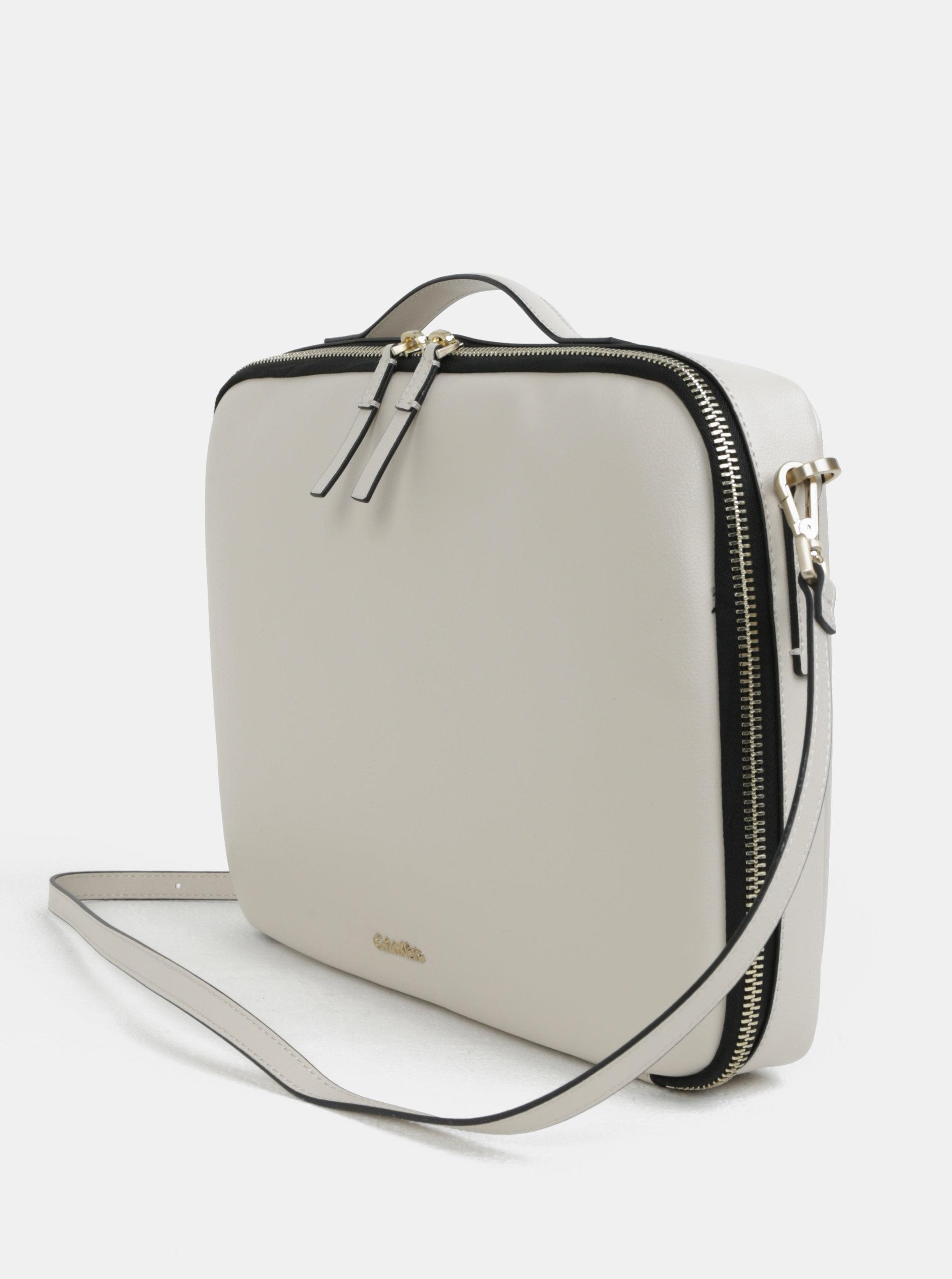 0d3a52341c94 Béžová dámská taška na notebook Calvin Klein Jeans ...