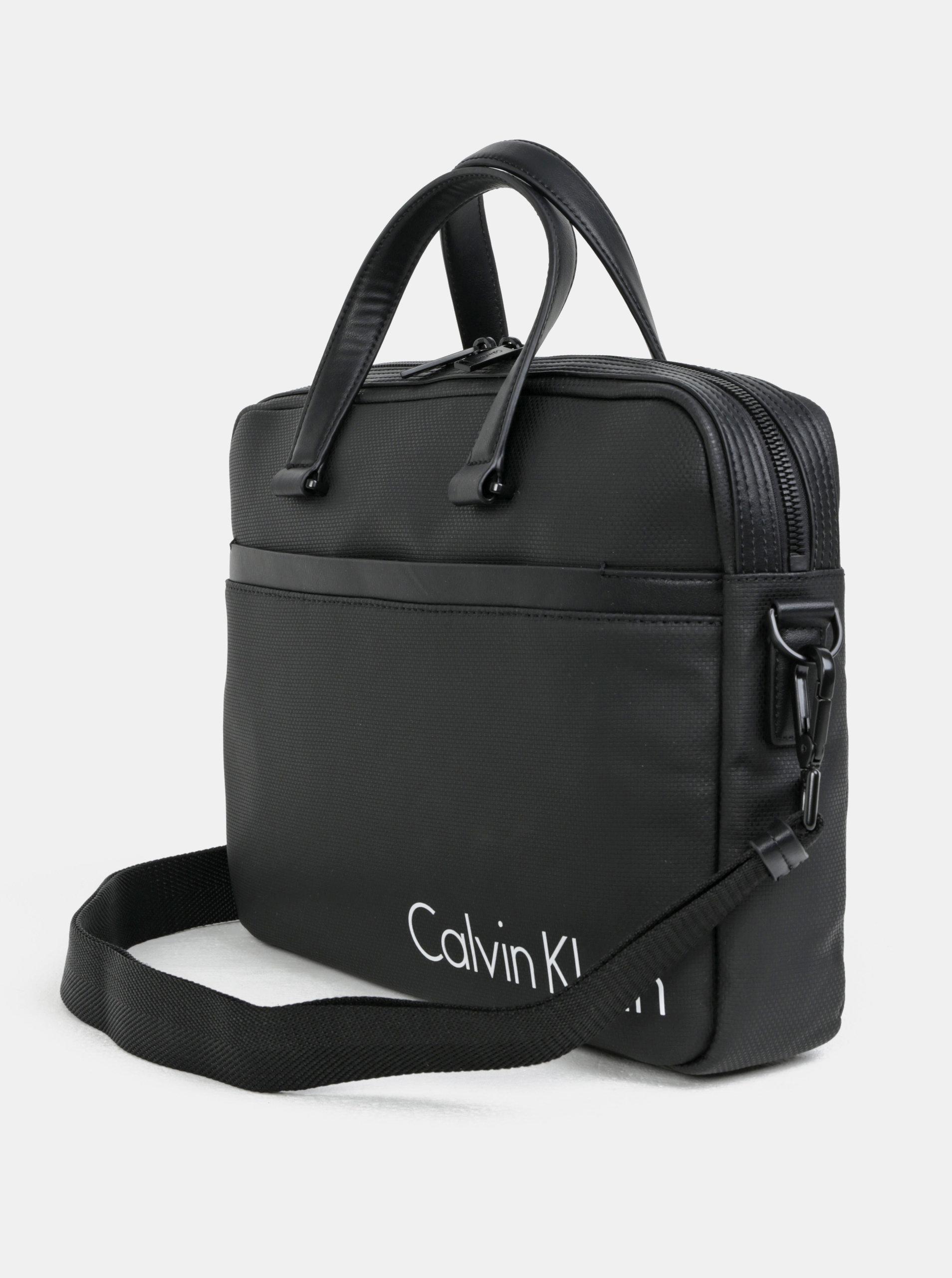 7d142eced76 Černá pánská taška na notebook Calvin Klein Jeans 15