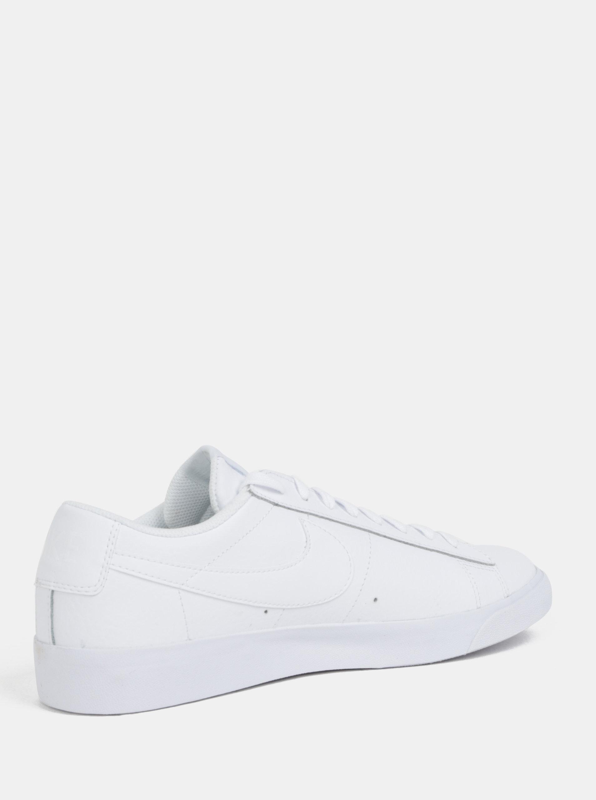 Biele pánske kožené tenisky Nike Blazer Low ... 7bdf12890d