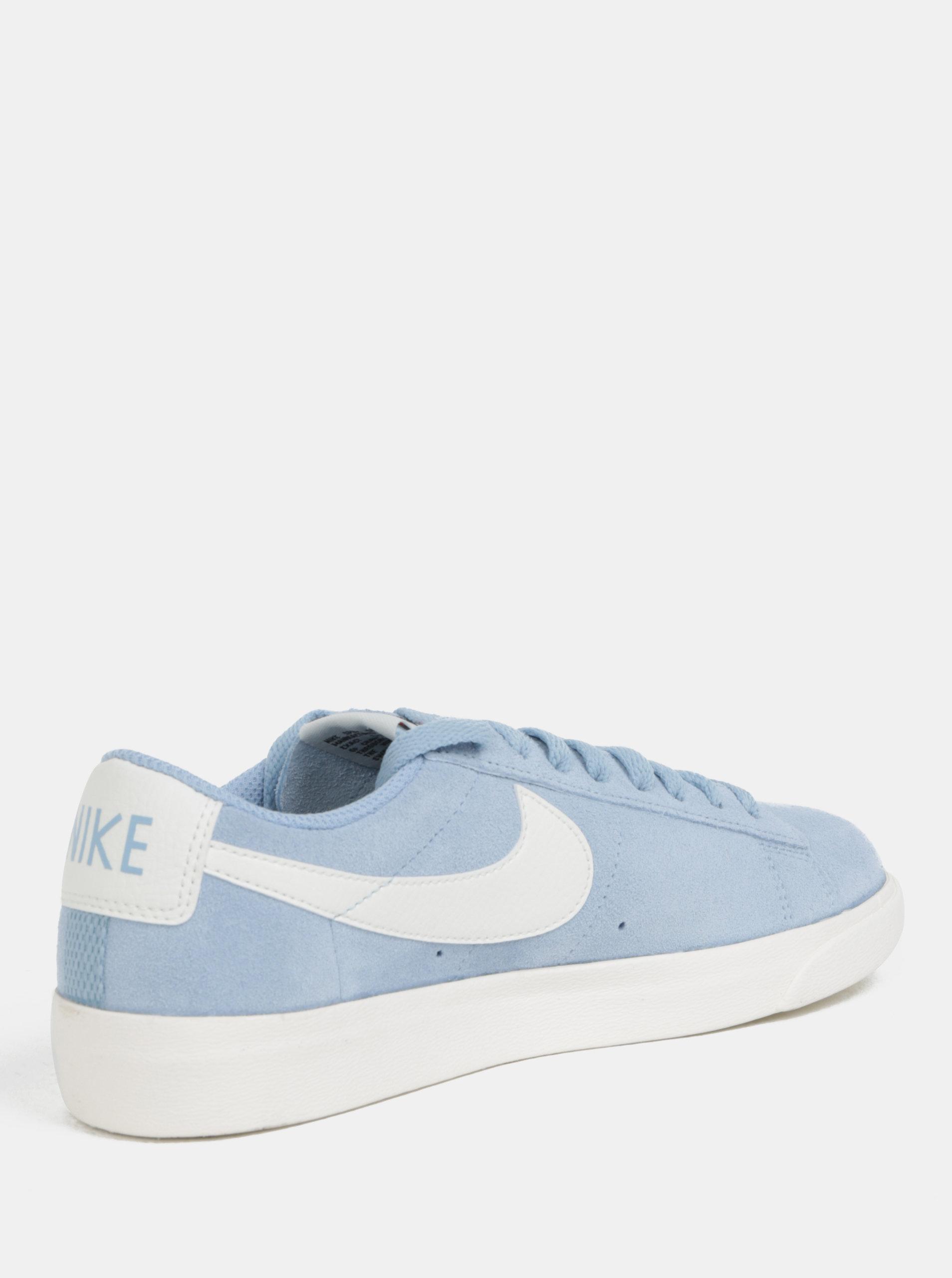 4fc430893a5 Světle modré dámské semišové tenisky Nike Blazer Low ...