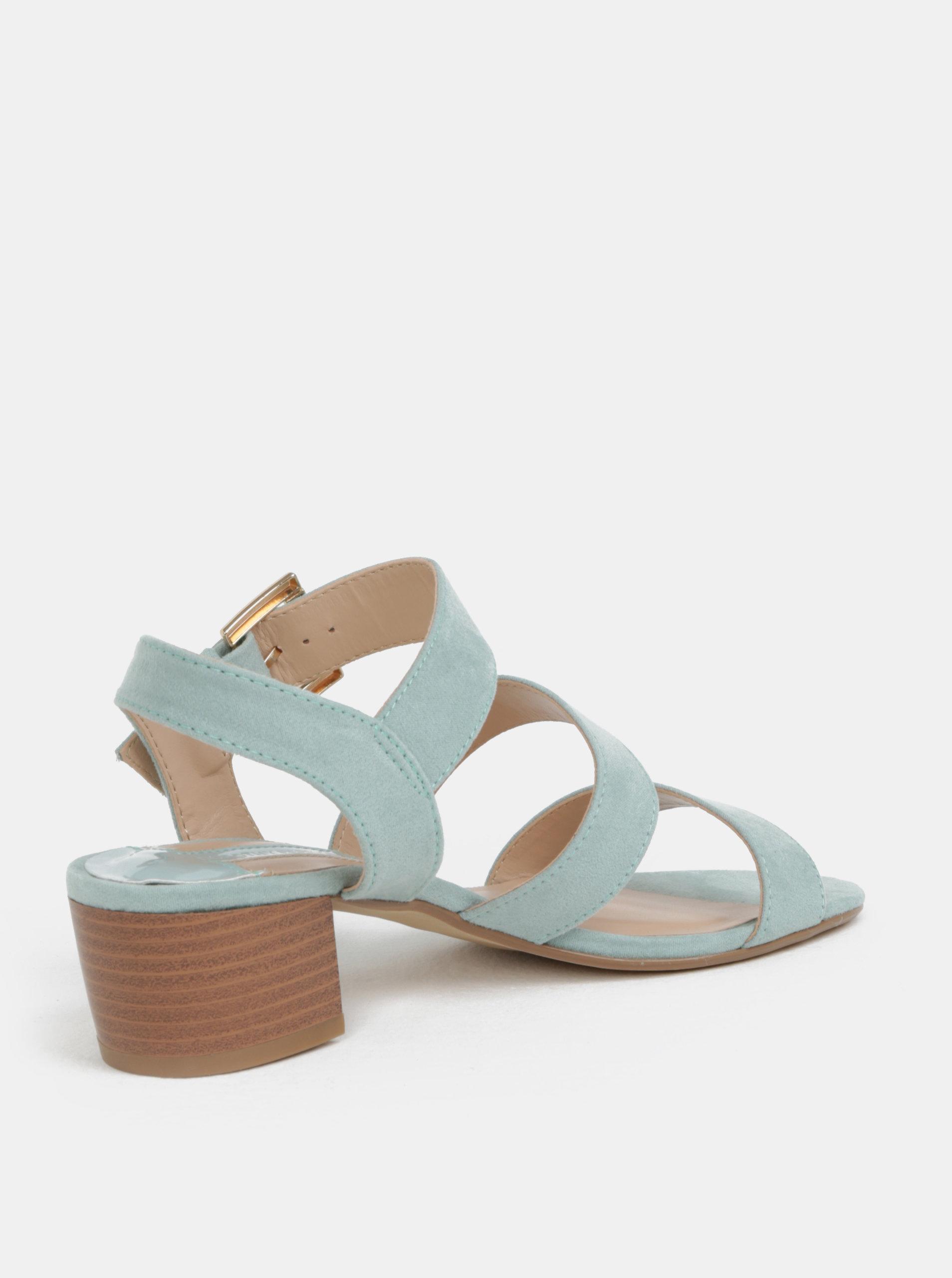 b369f3abe82b Mentolové sandále v semišovej úprave Dorothy Perkins ...