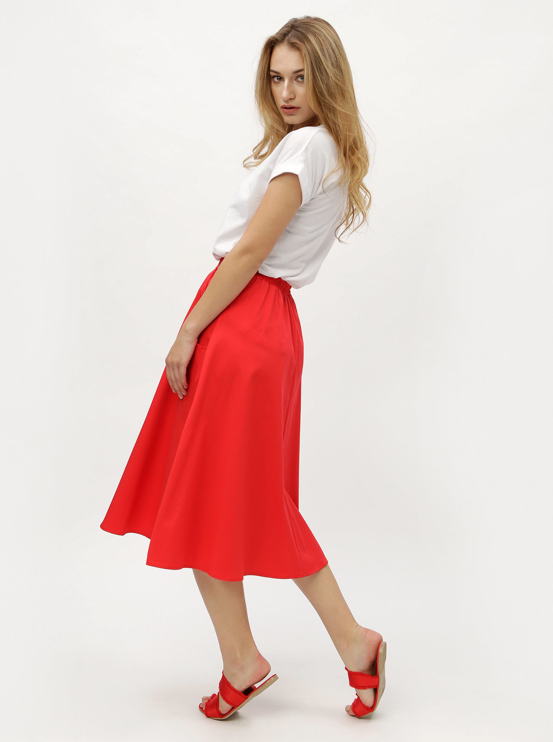 d83d6770b989 Červená sukně ZOOT ...