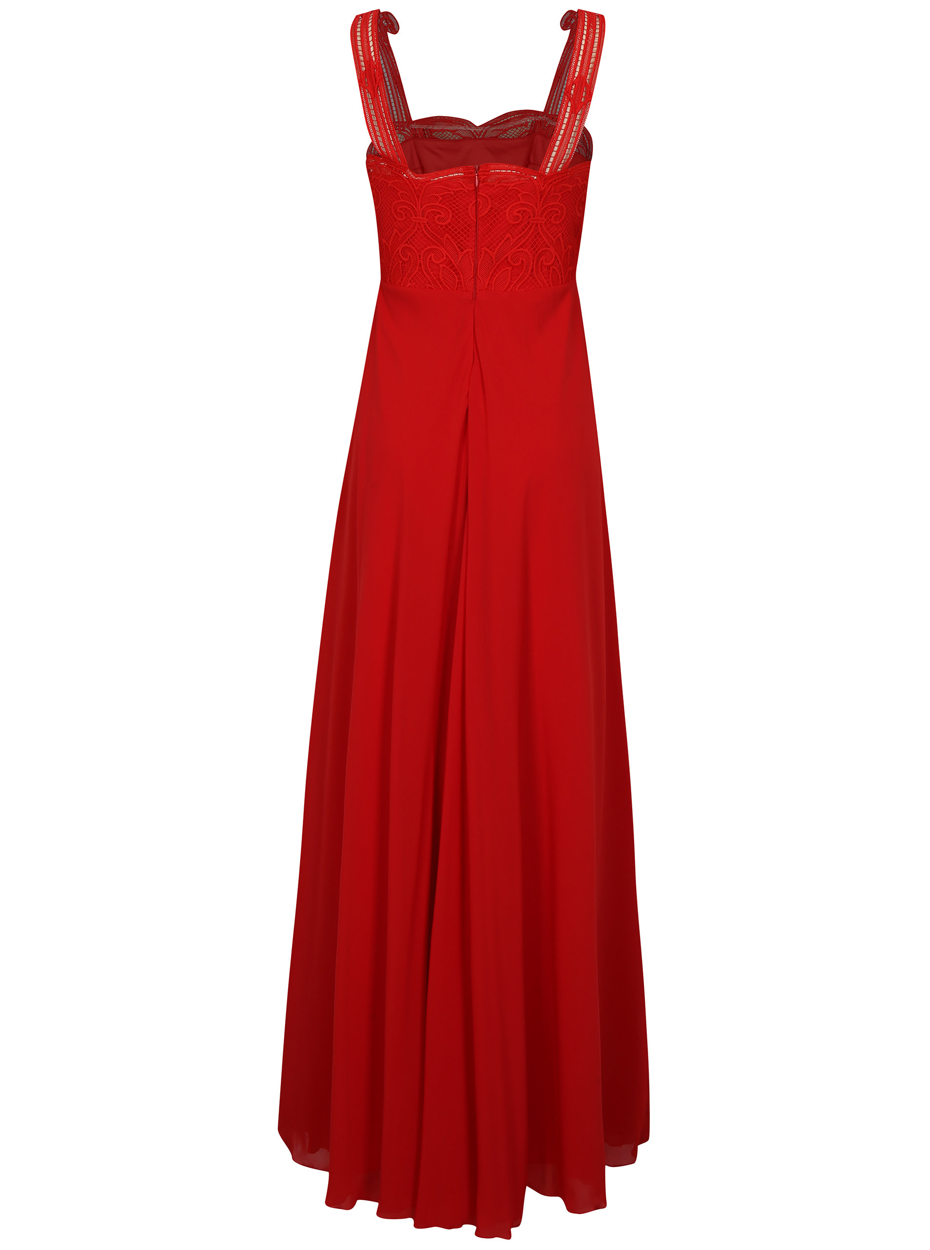 Červené maxišaty na ramienka Miss Grey Irene ... cb6d2559cb8