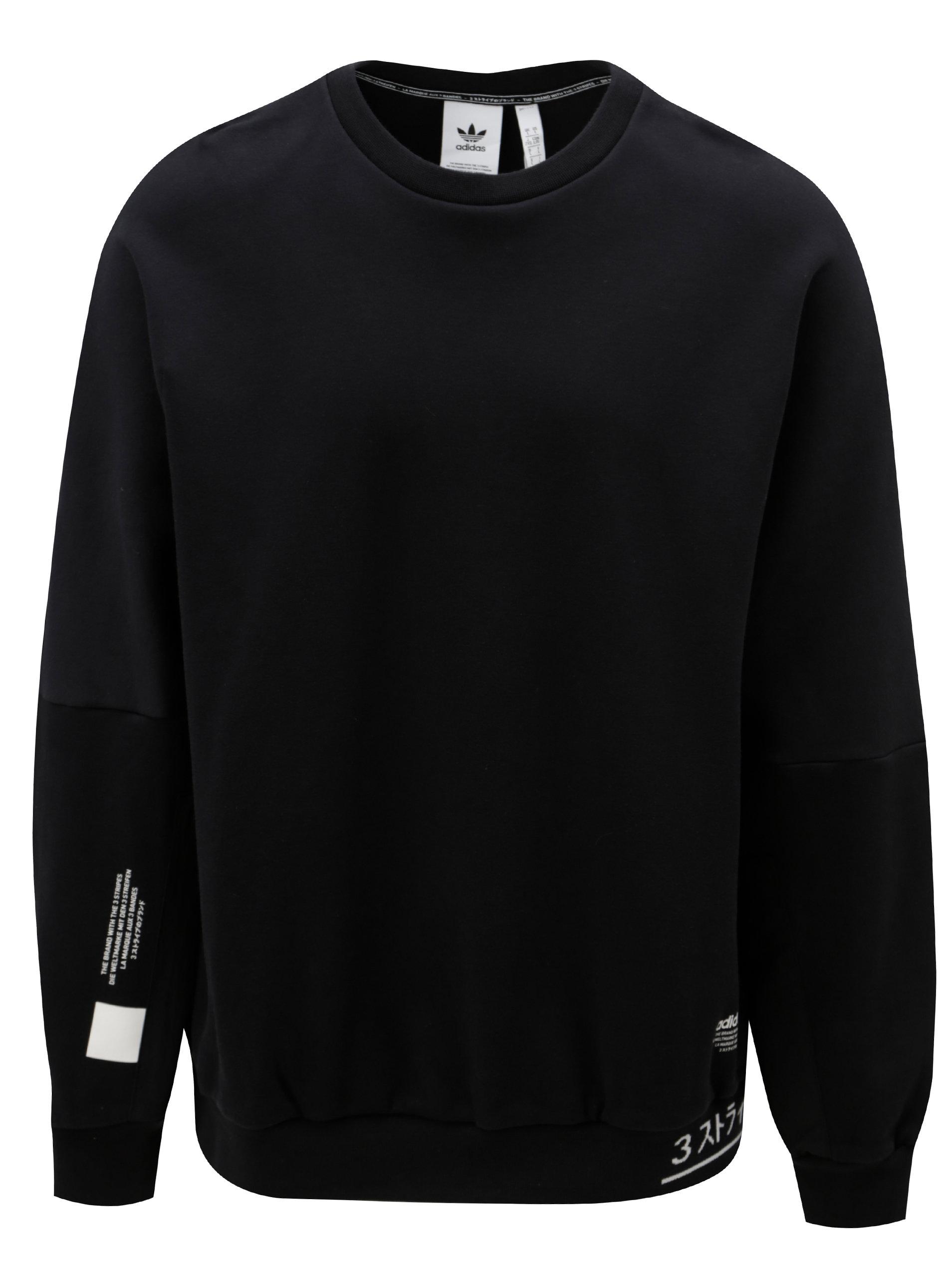 Čierna pánska mikina s potlačou adidas Originals ... 1c0549a3944