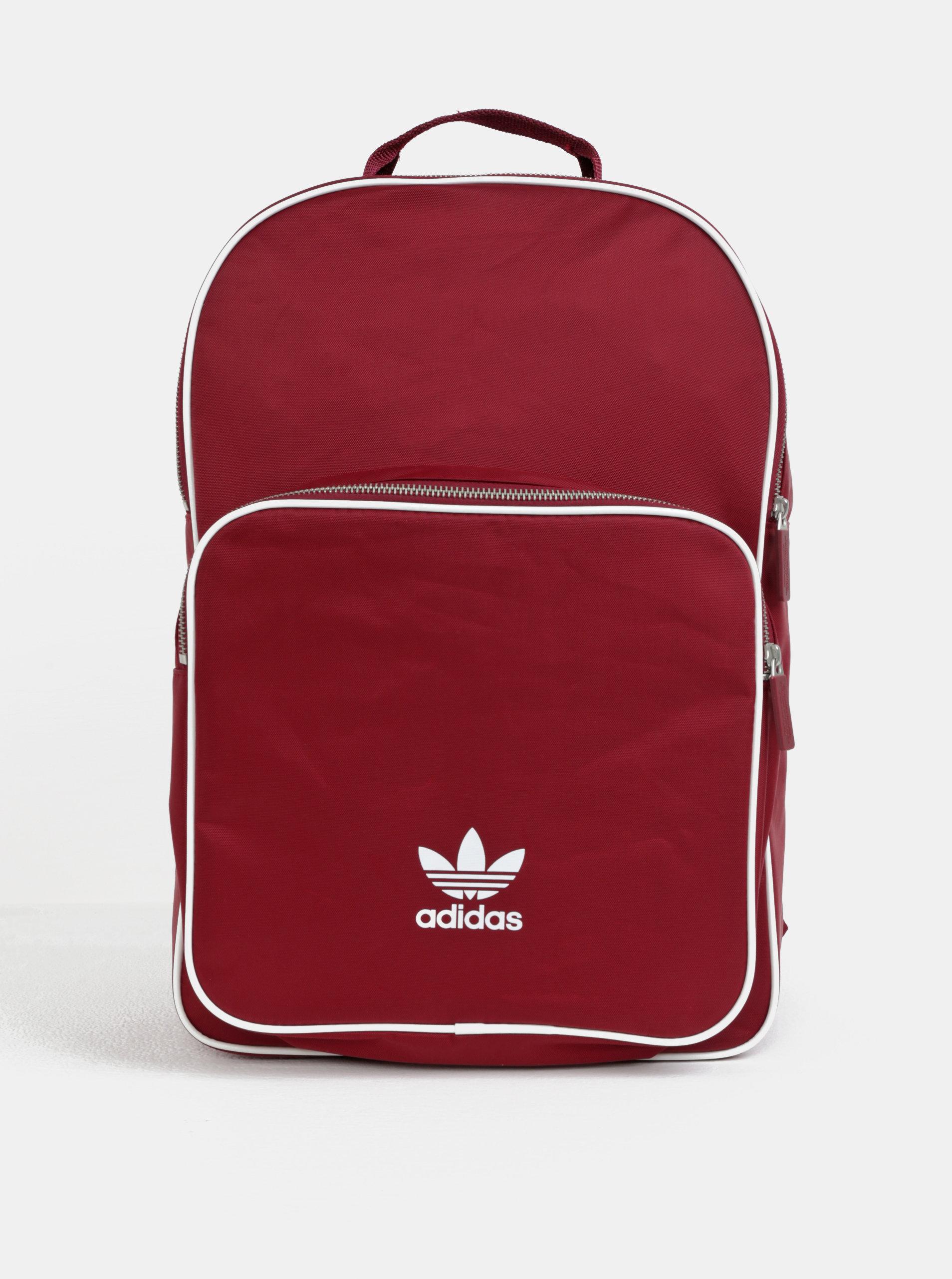 Vínový batoh s potiskem adidas Originals ... 6849a17fec