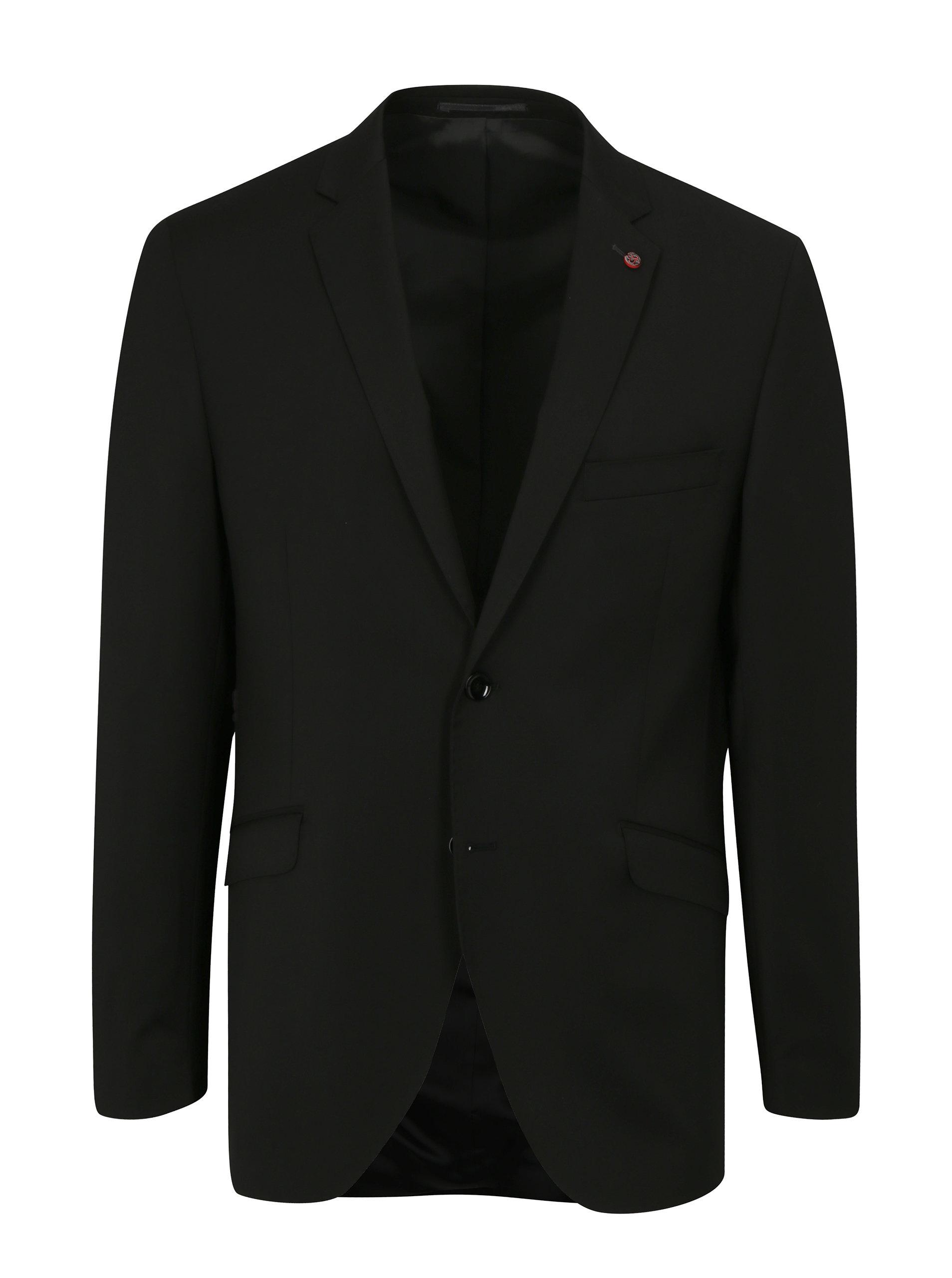 Černé oblekové vlněné sako Good Son