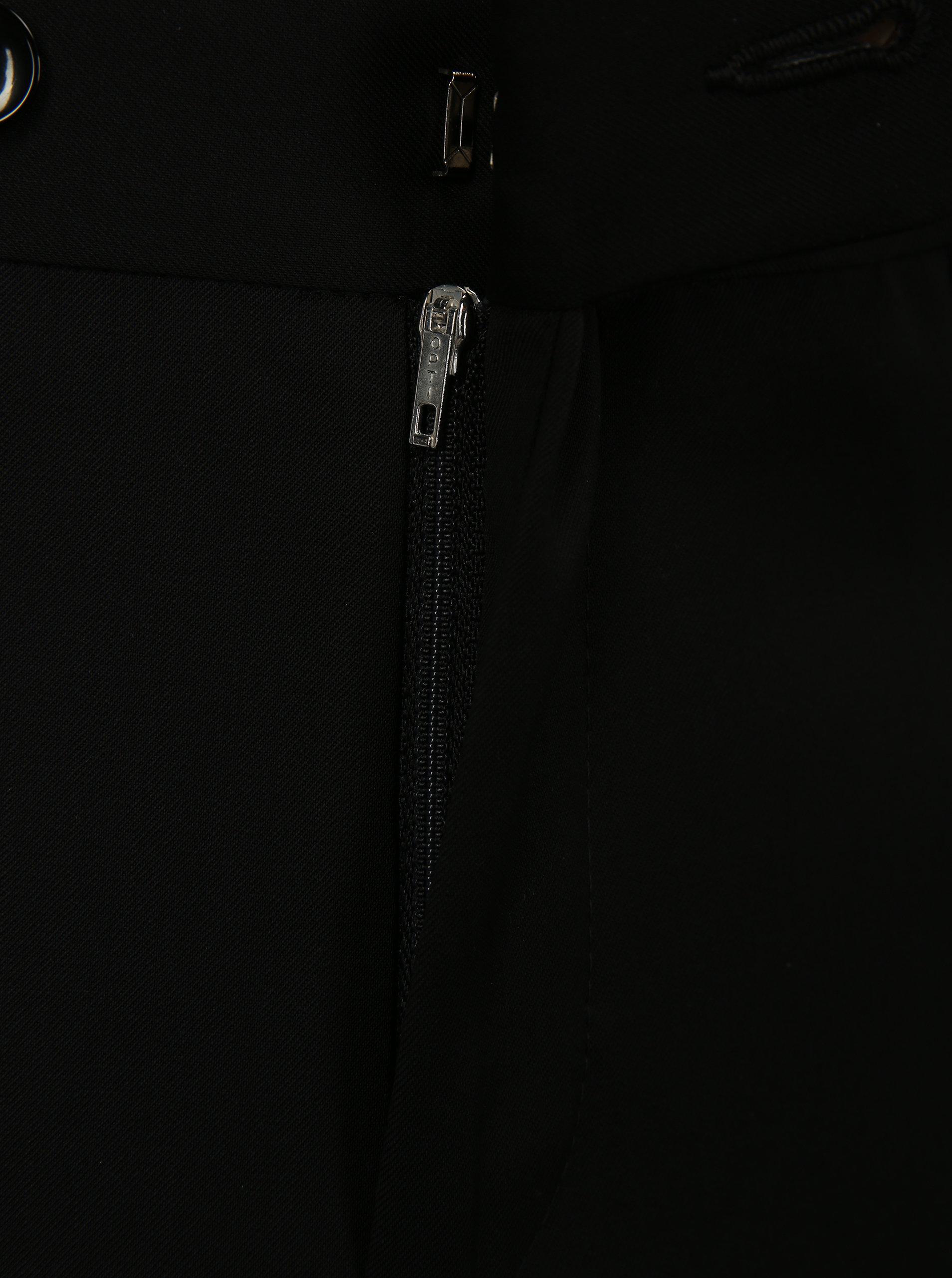 Čierne oblekové vlnené nohavice Good Son ... 1faf0c7feea