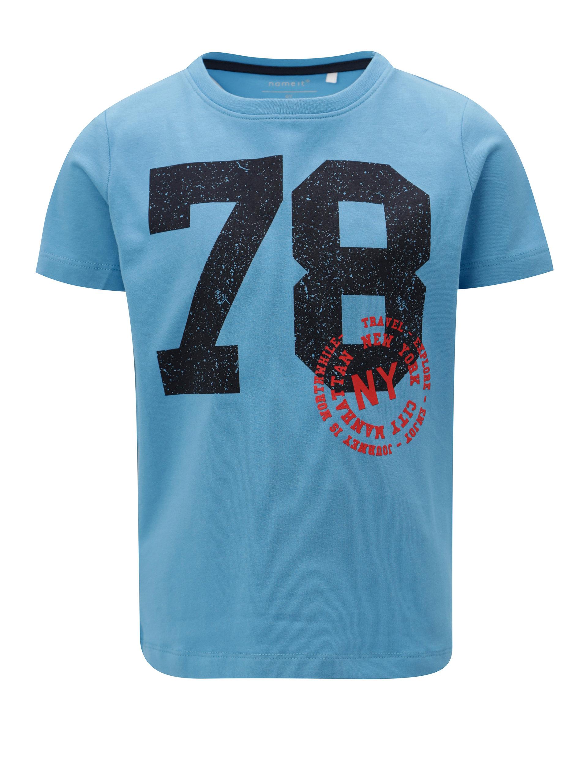 b0bc11619963 Modré chlapčenské tričko s potlačou name it Ted ...
