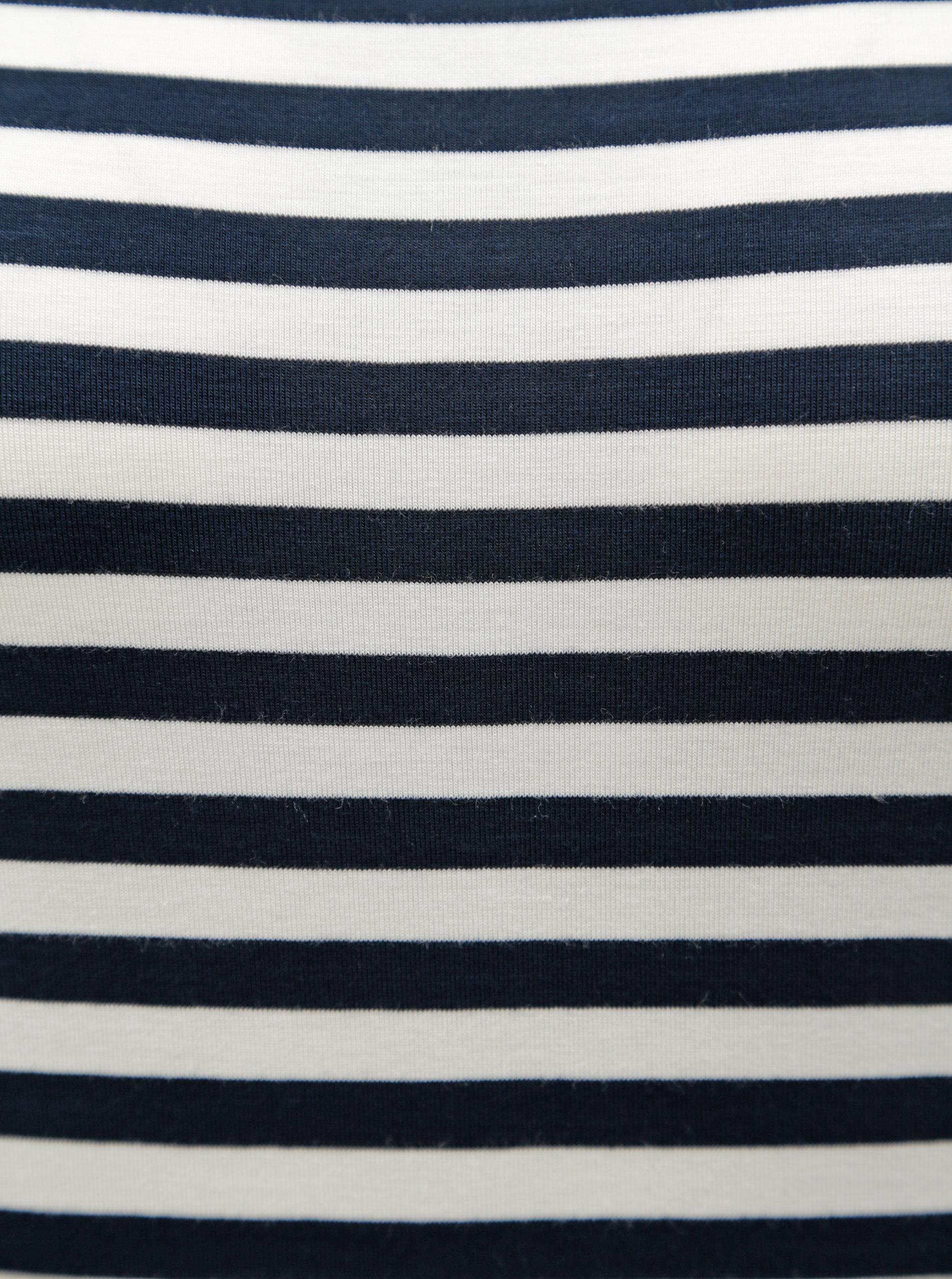 Bielo-modré dámske pruhované tričko s 3 4 rukávom Tommy Hilfiger ... 6f949984833