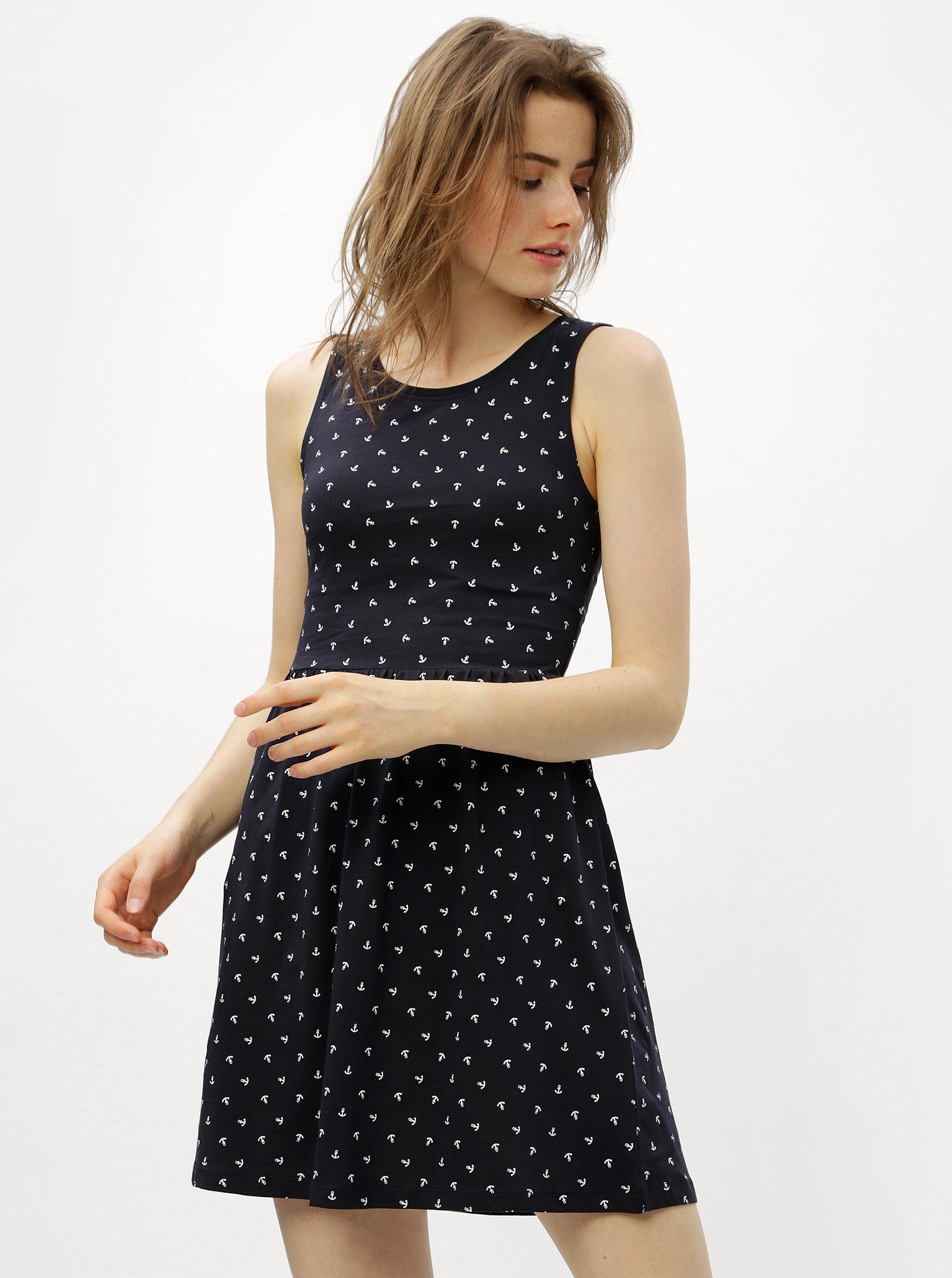 d54543c6981b Tmavomodré šaty s prestrihom na chrbte ONLY Olivia ...