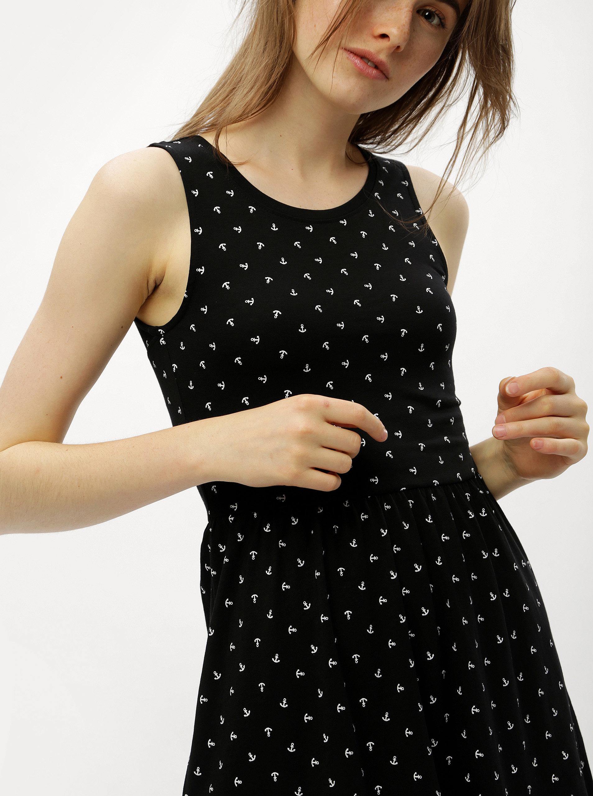 6a3c374b2417 Čierne šaty s prestrihom na chrbte ONLY Olivia ...