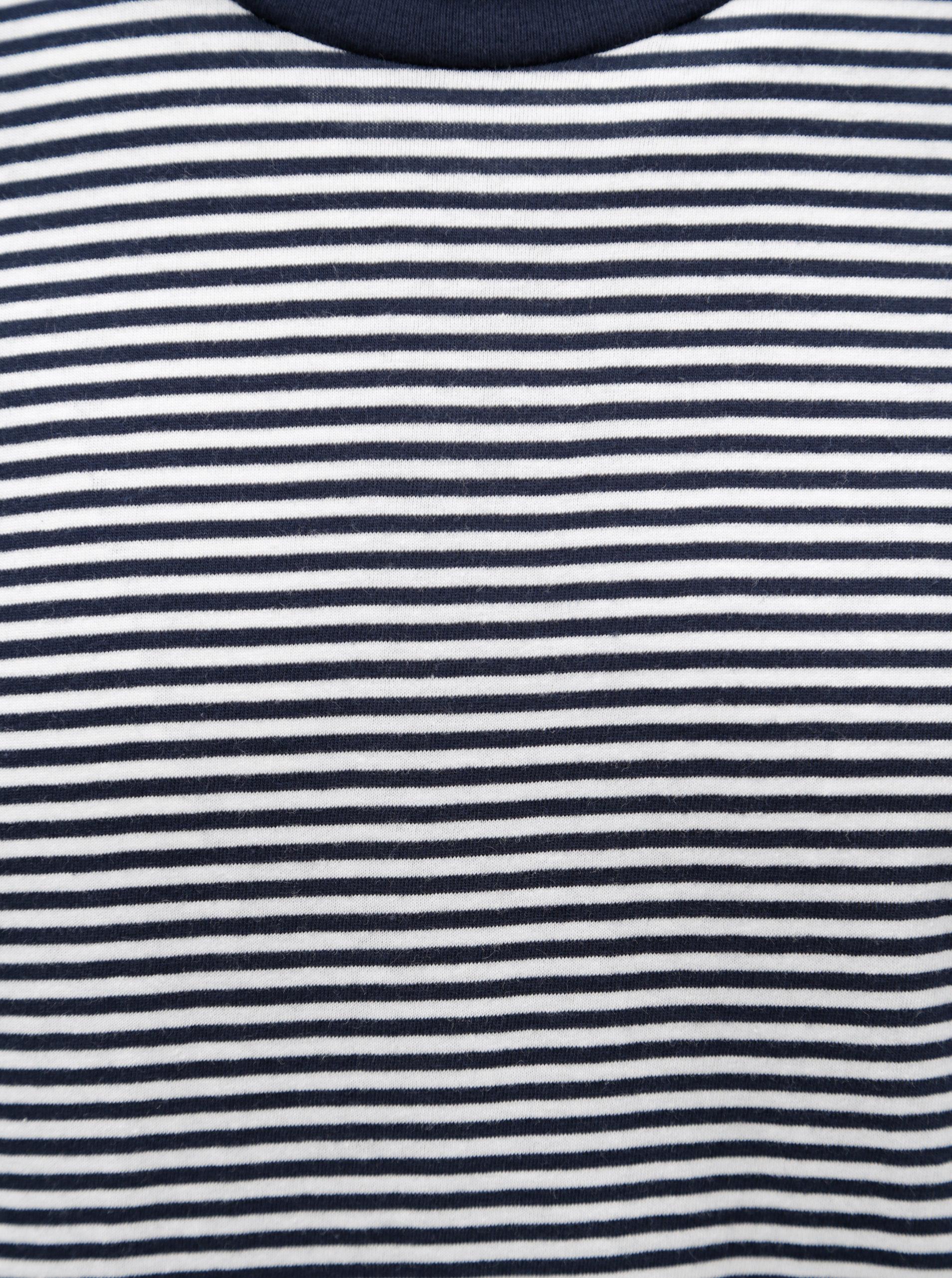 93725b039475 Bílo-modré pruhované tričko Selected Homme Stripe - Akční cena ...