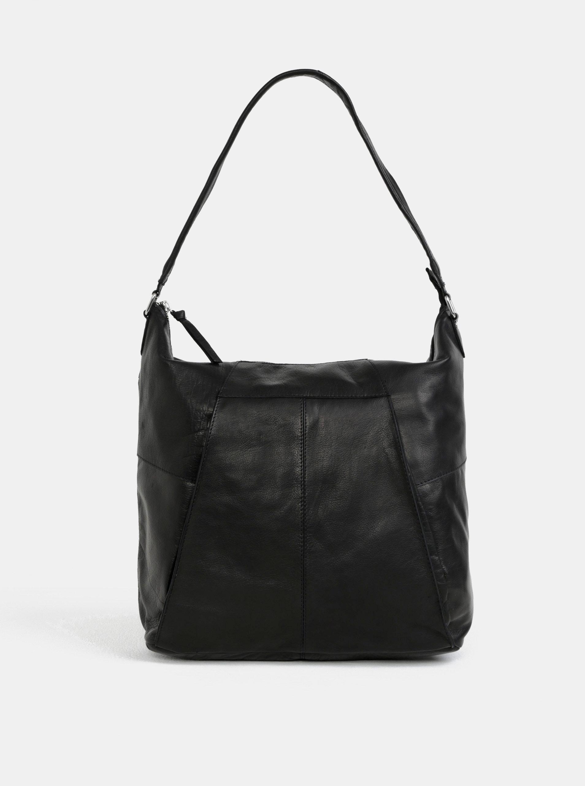 cb0703d29a Černá kožená kabelka přes rameno Pieces Dehbra ...