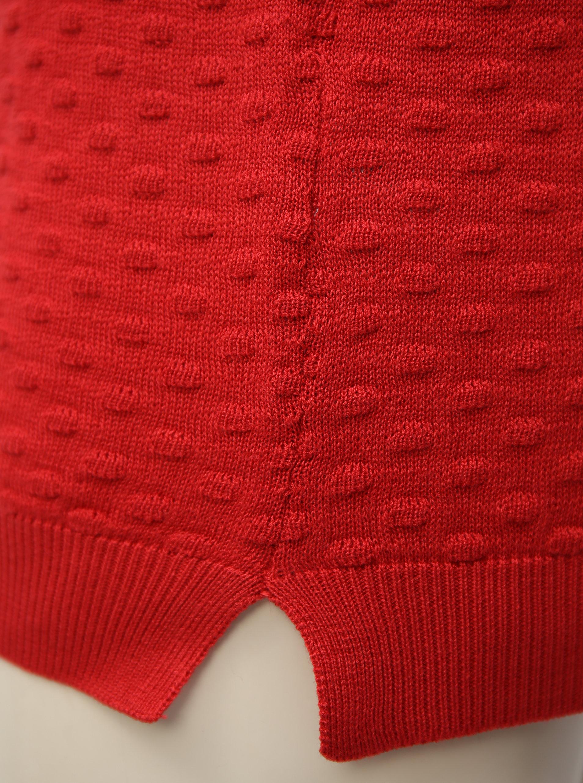 Červený svetr VILA Safarina ... 026fa552a7