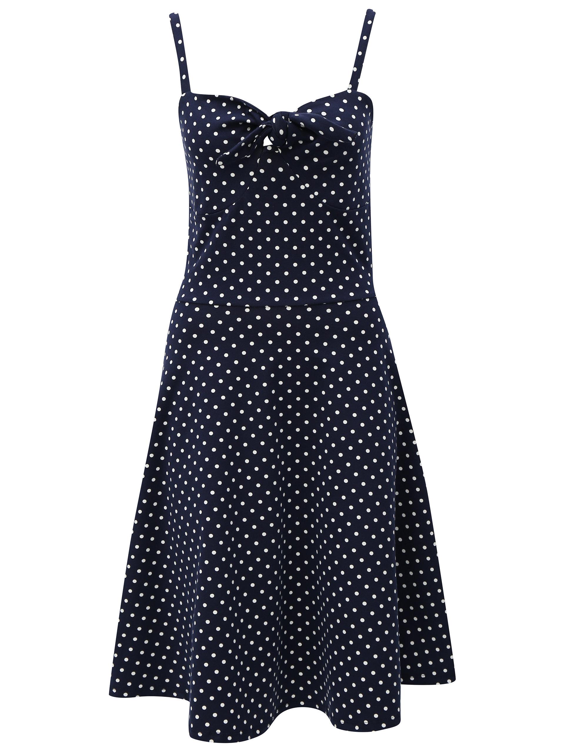 6aec8b0eadf2 Tmavě modré šaty s puntíky Dorothy Perkins Tall ...