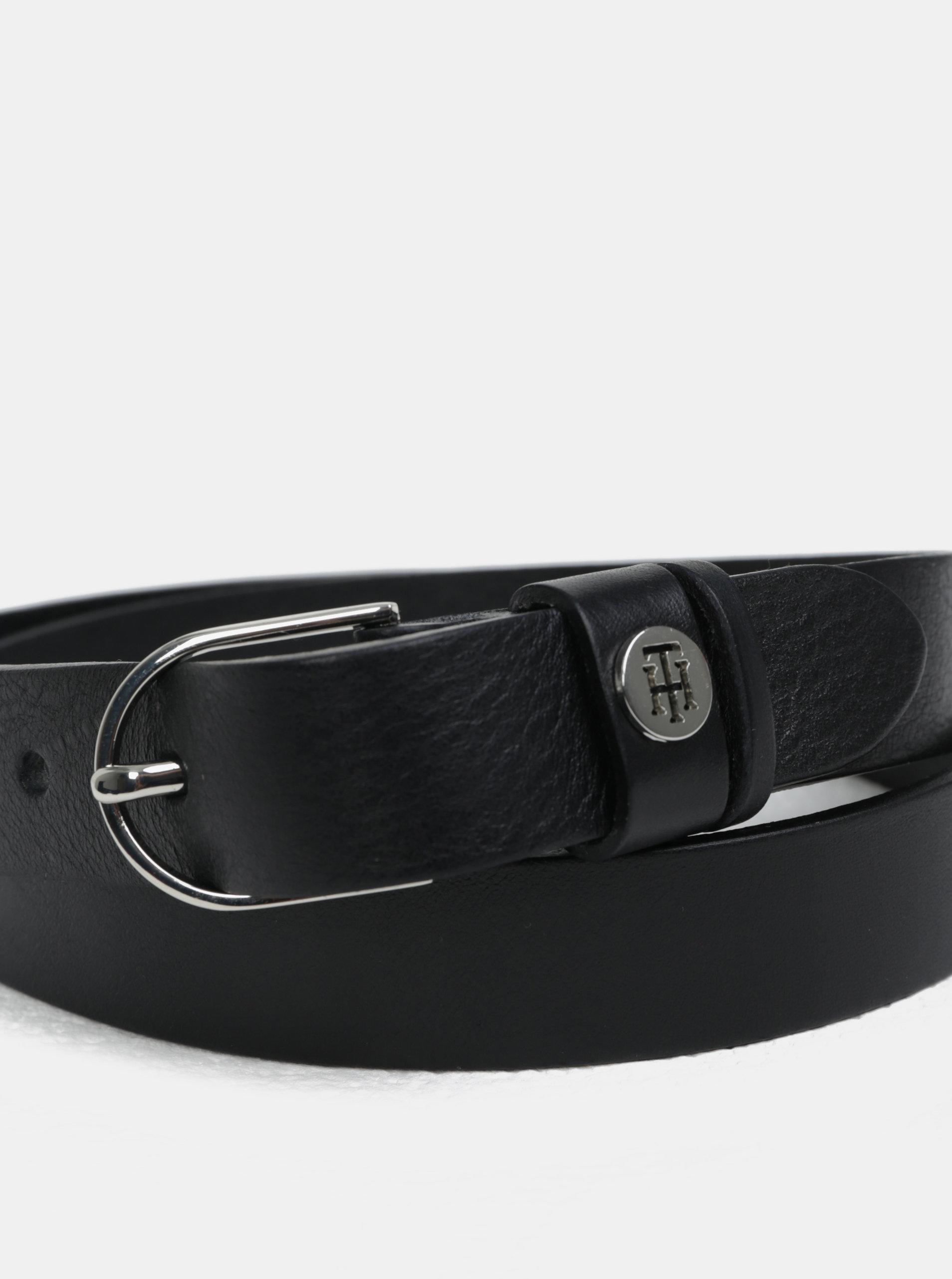 Čierny dámsky úzky kožený opasok Tommy Hilfiger ... be1c63a4357