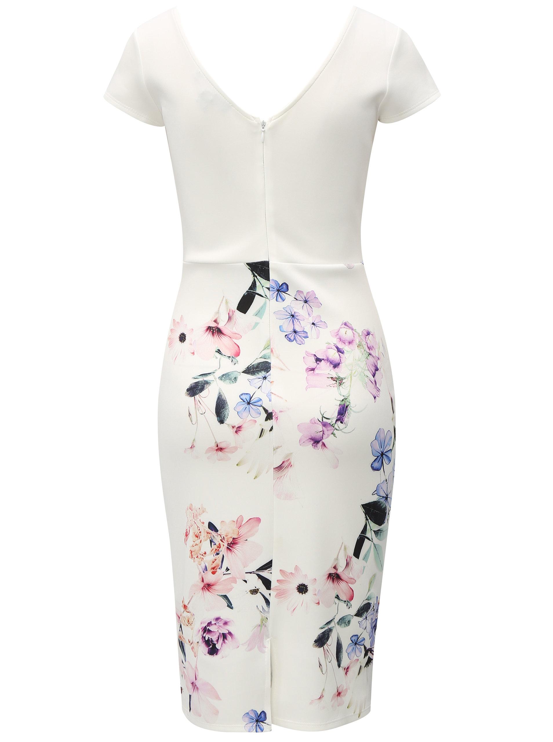 Biele kvetované puzdrové šaty Dorothy Perkins ... 6b177046e20